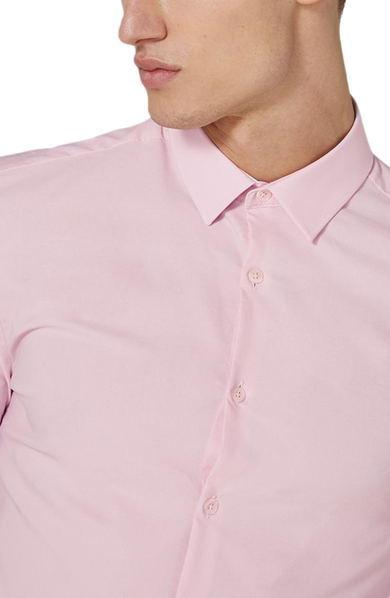 Alternate Image 3  - Topman Muscle Fit Dress Shirt