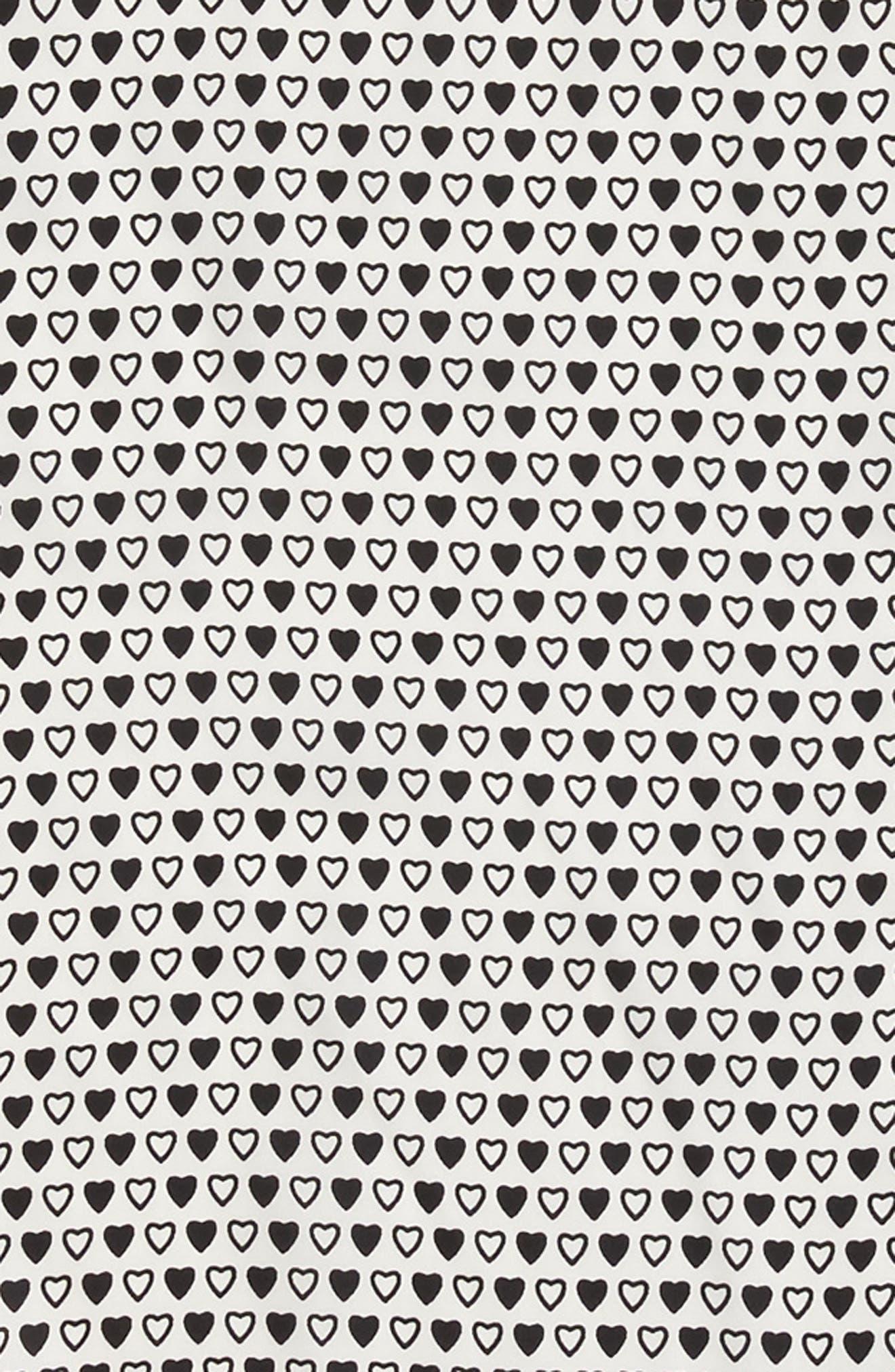 I Heart You Diamond Silk Scarf,                             Alternate thumbnail 4, color,                             Marshmallow