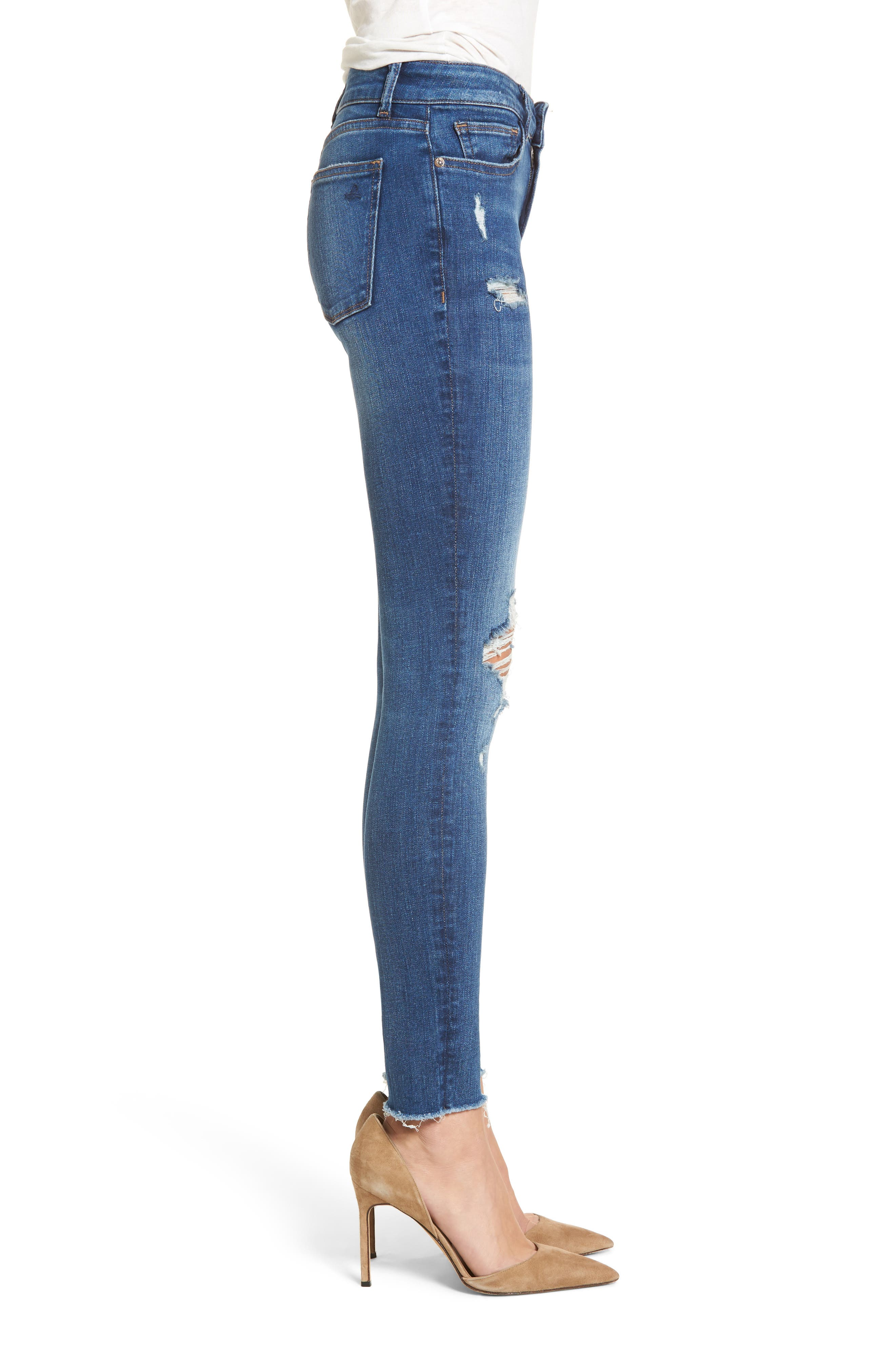 Margaux Instasculpt Ankle Skinny Jeans,                             Alternate thumbnail 3, color,                             Lowell
