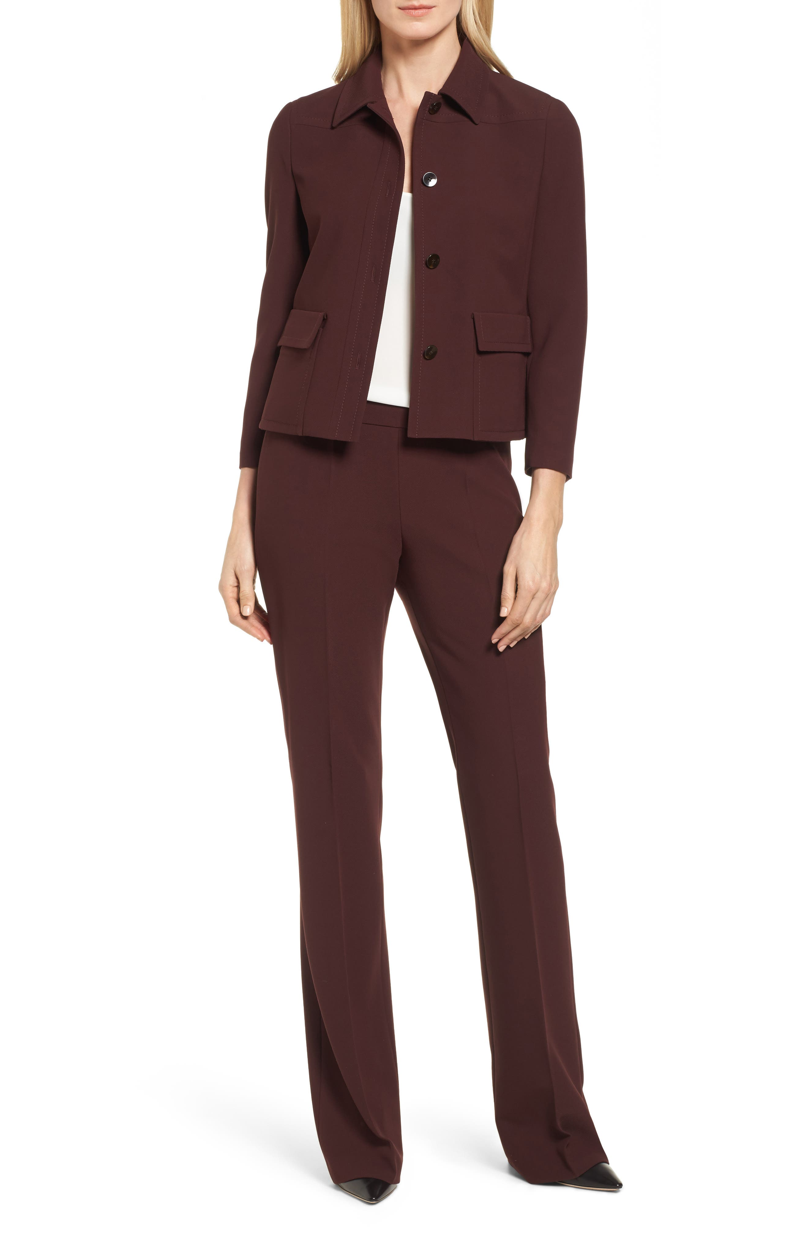 Side Zip Suit Trousers,                             Alternate thumbnail 2, color,                             Mulberry