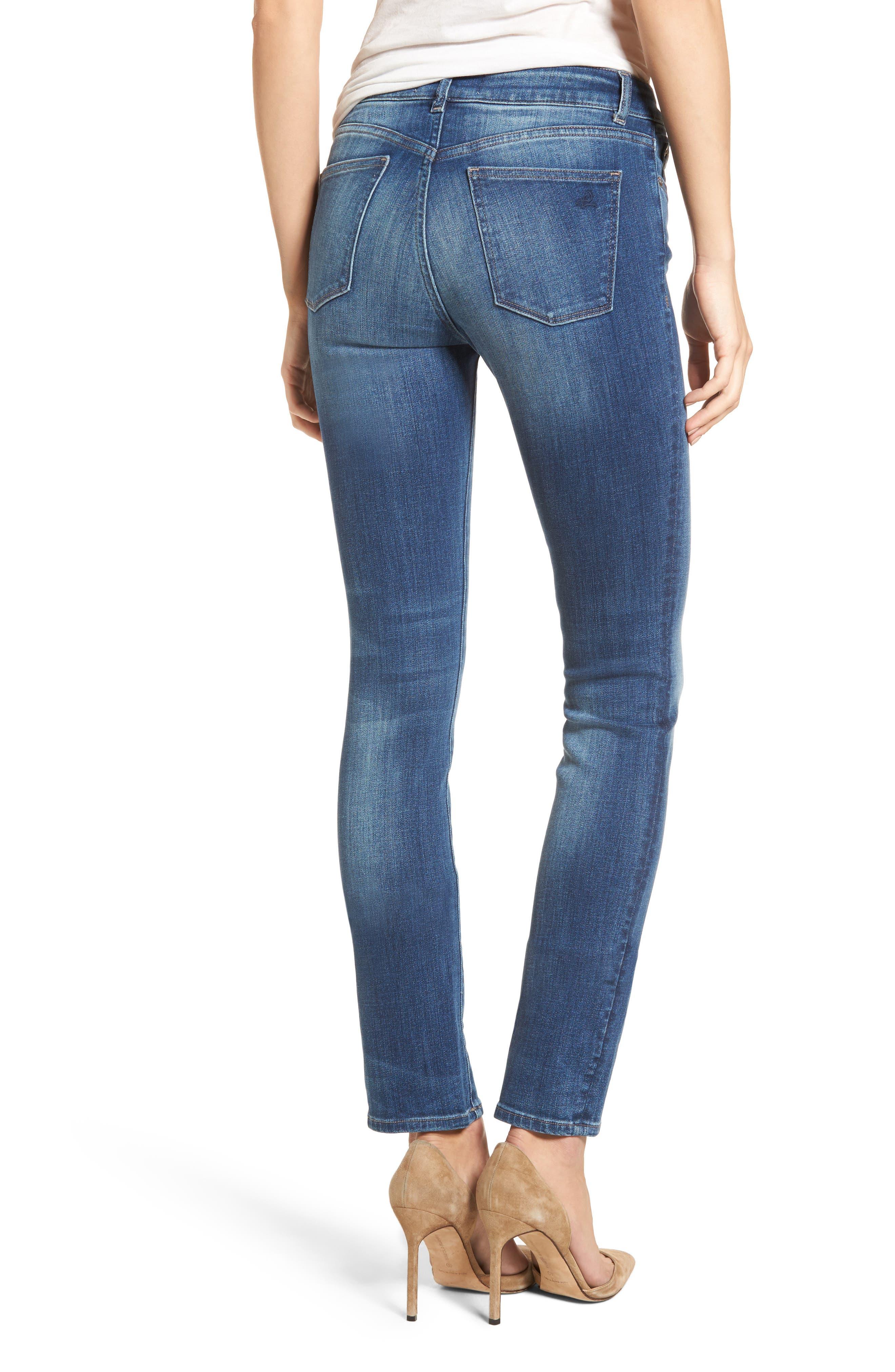 Mara Straight Leg Jeans,                             Alternate thumbnail 2, color,                             Spring Lake
