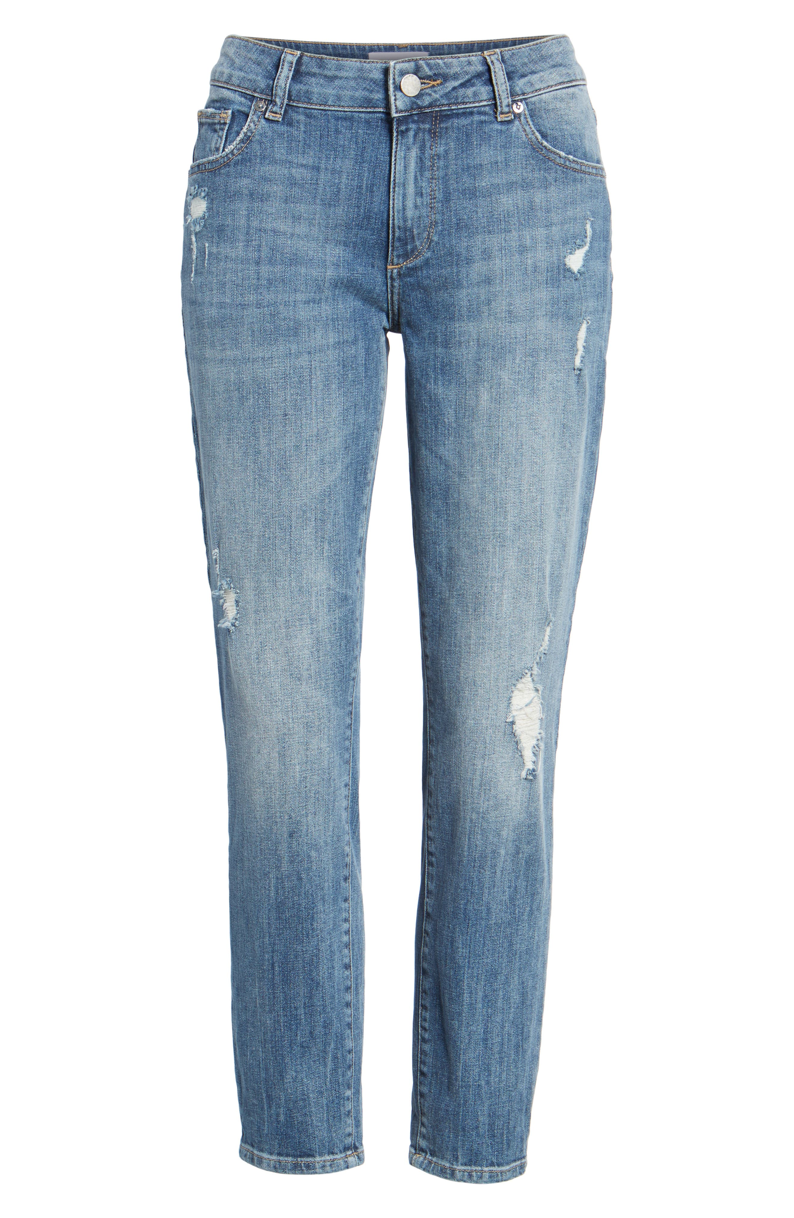 Davis Ankle Girlfriend Jeans,                             Alternate thumbnail 7, color,                             Alamo