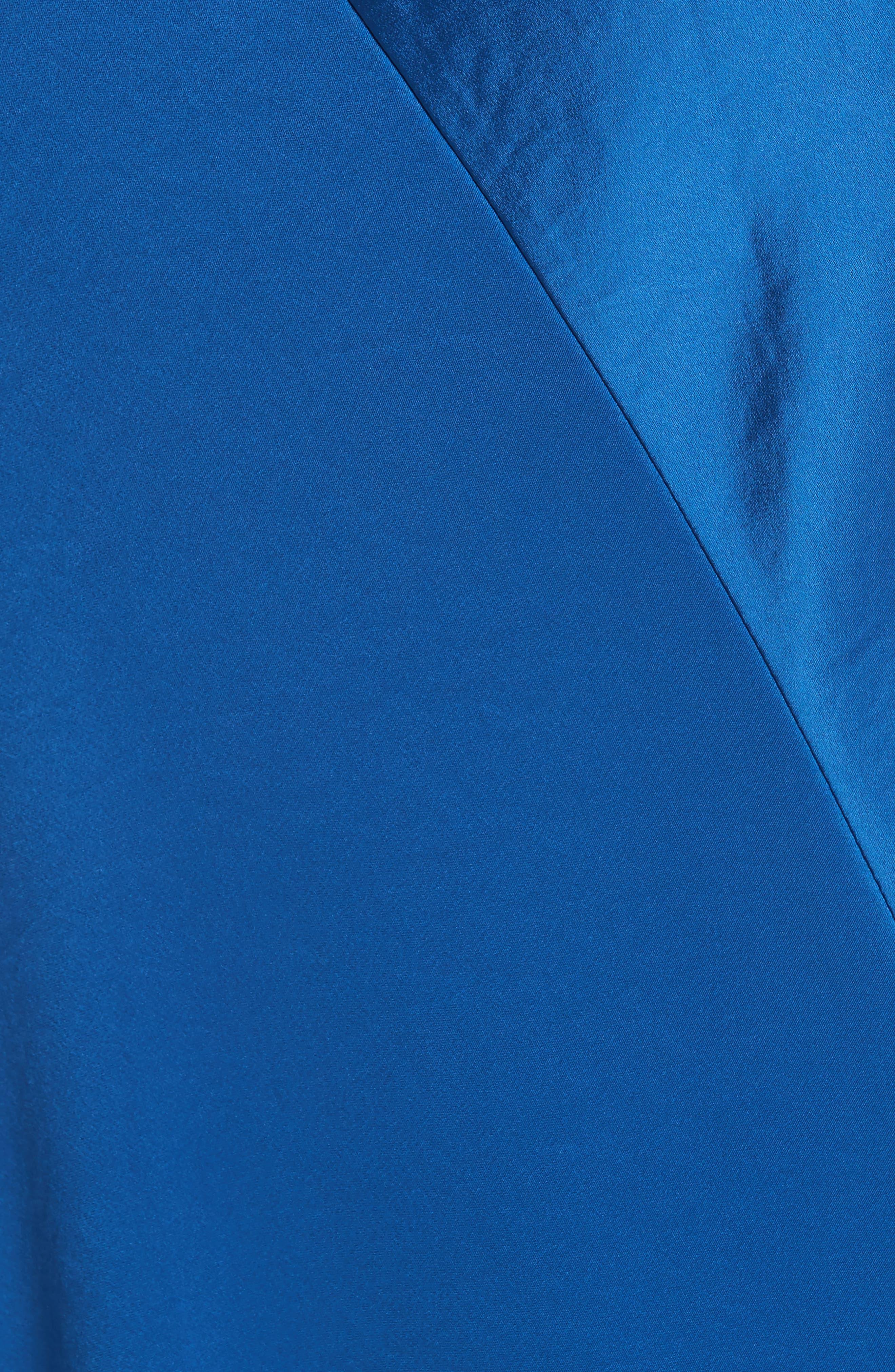 Diane von Furstenberg Open Back A-Line Gown,                             Alternate thumbnail 5, color,                             Cove