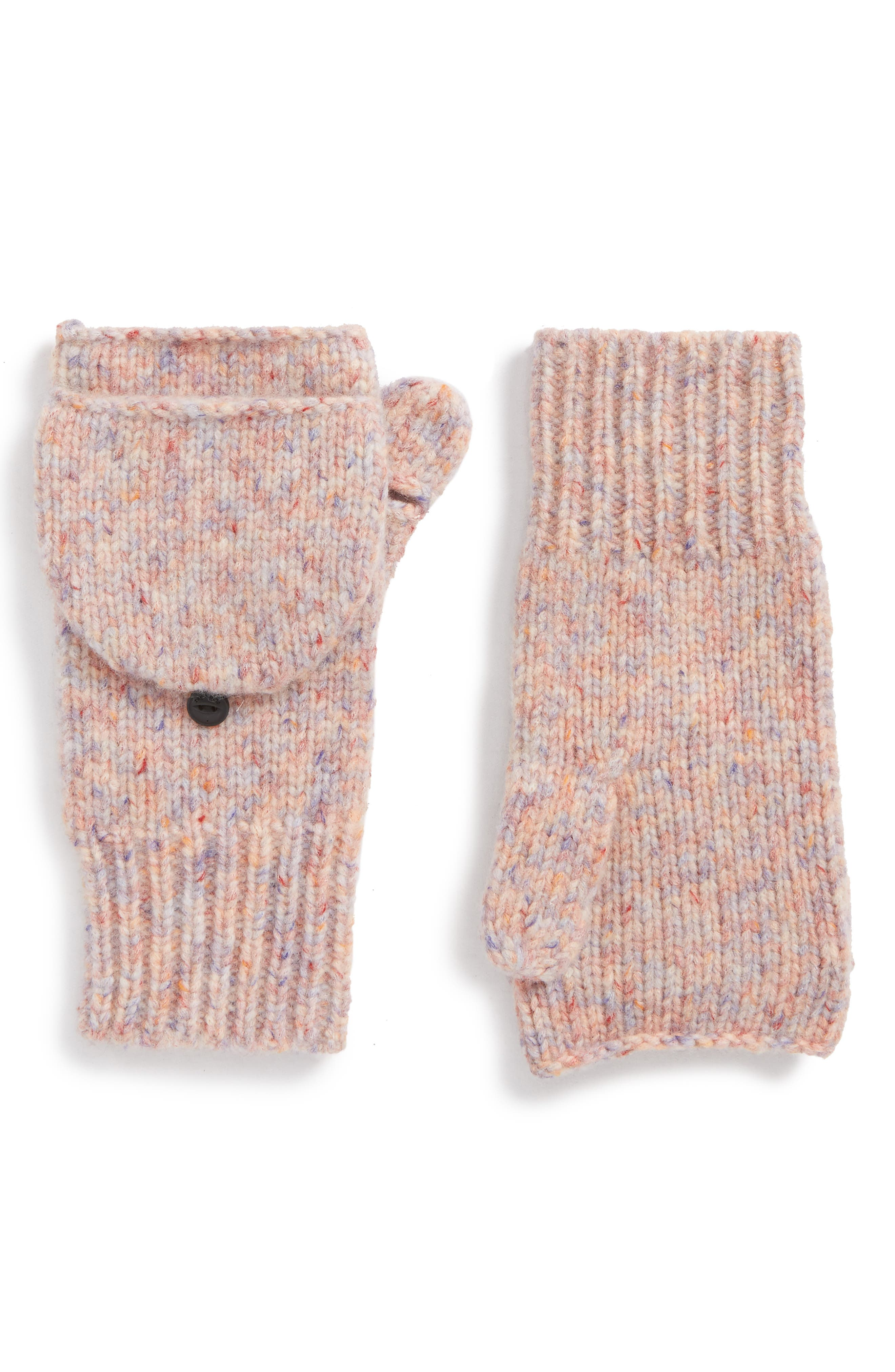 Devin Convertible Wool Blend Mittens,                             Main thumbnail 1, color,                             Pink Multi