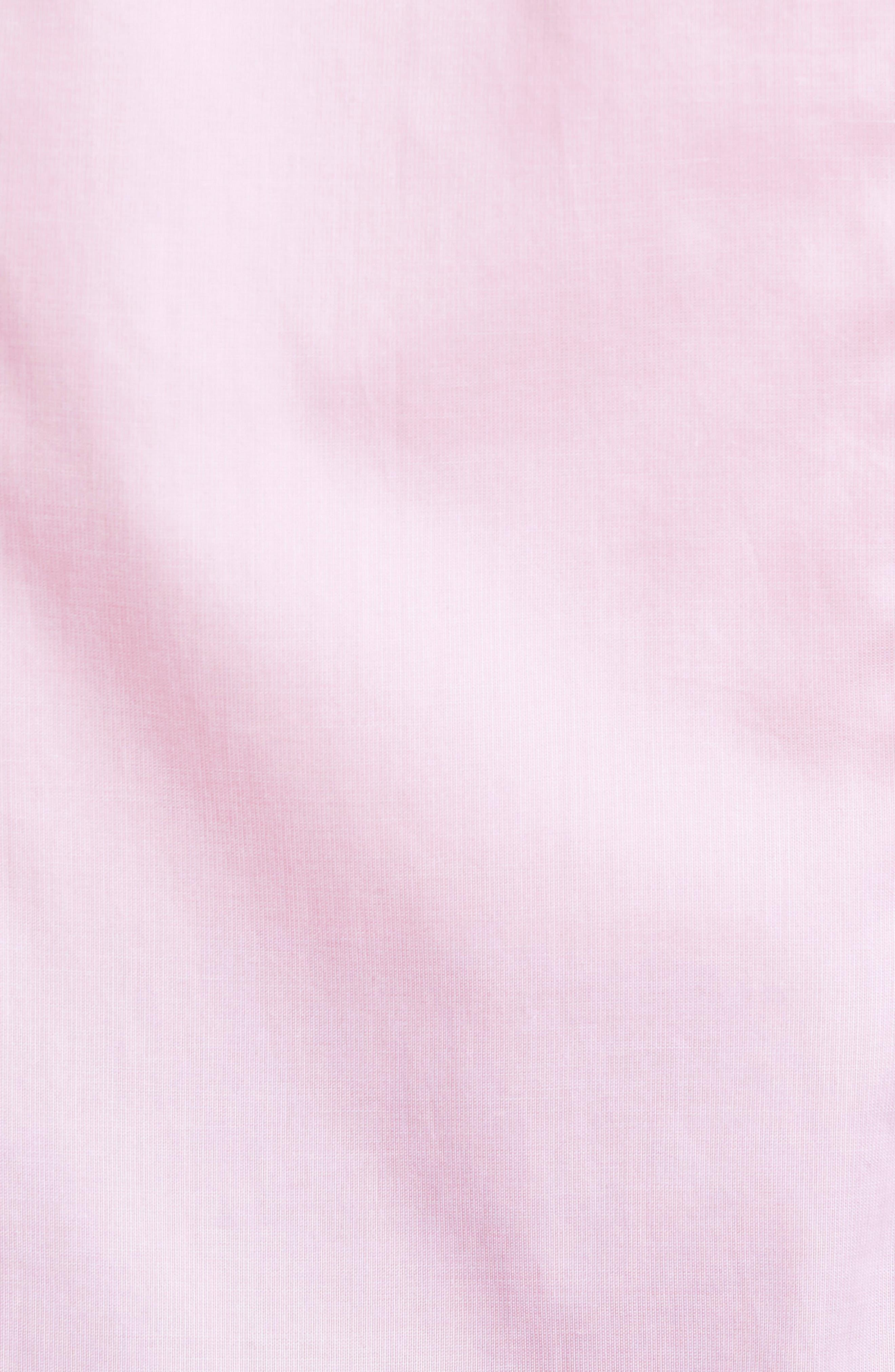 Slim Fit Micro Stripe Sport Shirt,                             Alternate thumbnail 5, color,                             Pink