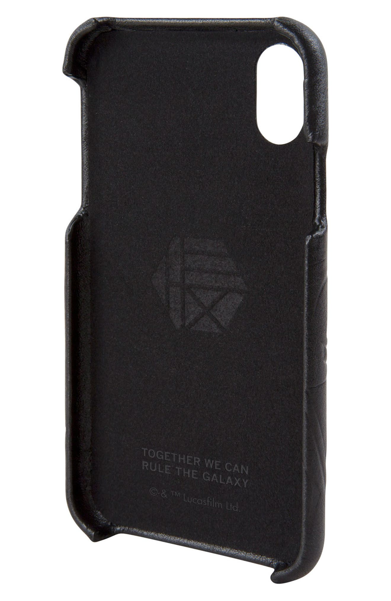 Darth Vader iPhone X Case,                             Alternate thumbnail 2, color,                             Black
