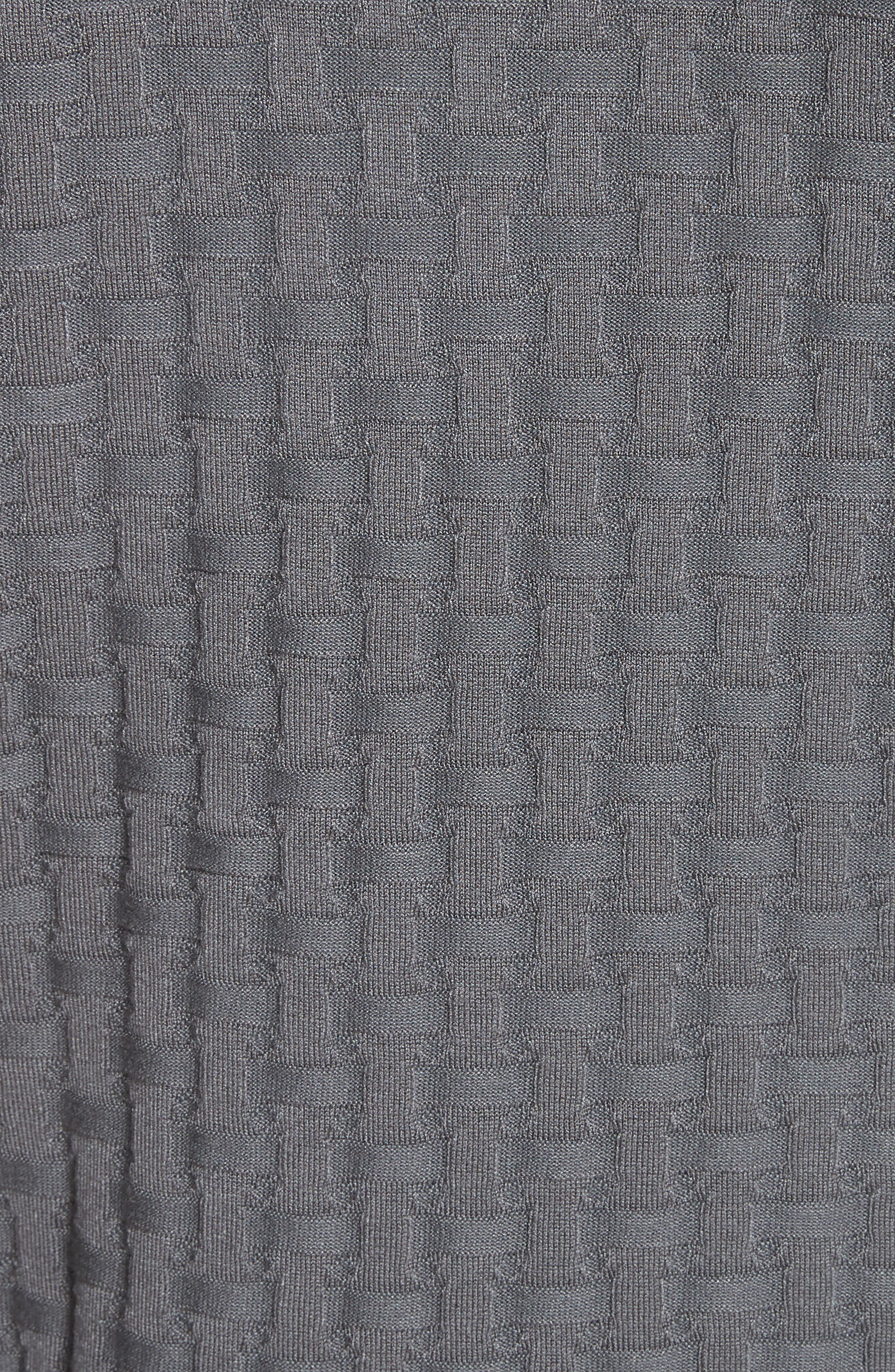 Slim Fit Woven Links Sweater,                             Alternate thumbnail 5, color,                             Pietra