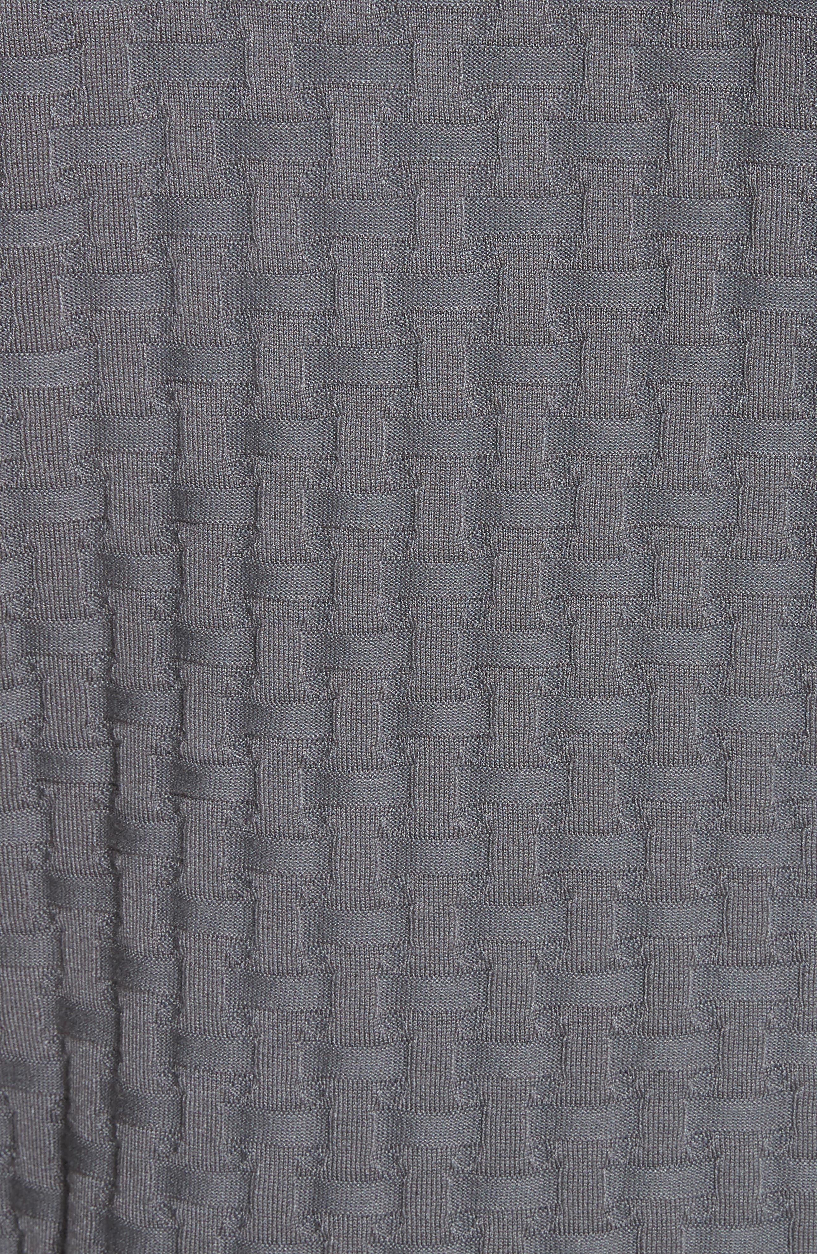 Alternate Image 5  - Emporio Armani Slim Fit Woven Links Sweater