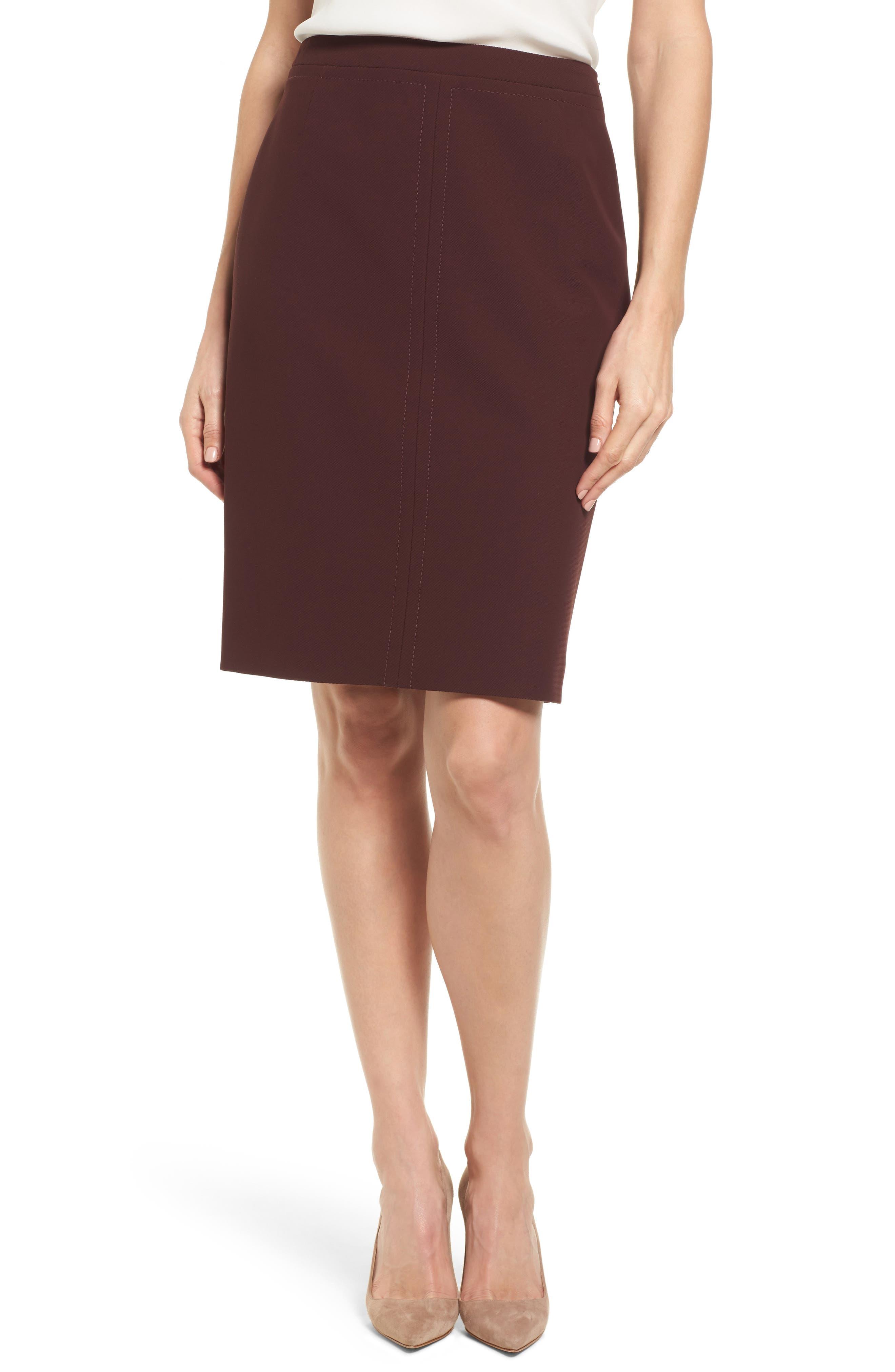 Main Image - BOSS Vuriona Suit Skirt (Regular & Petite)