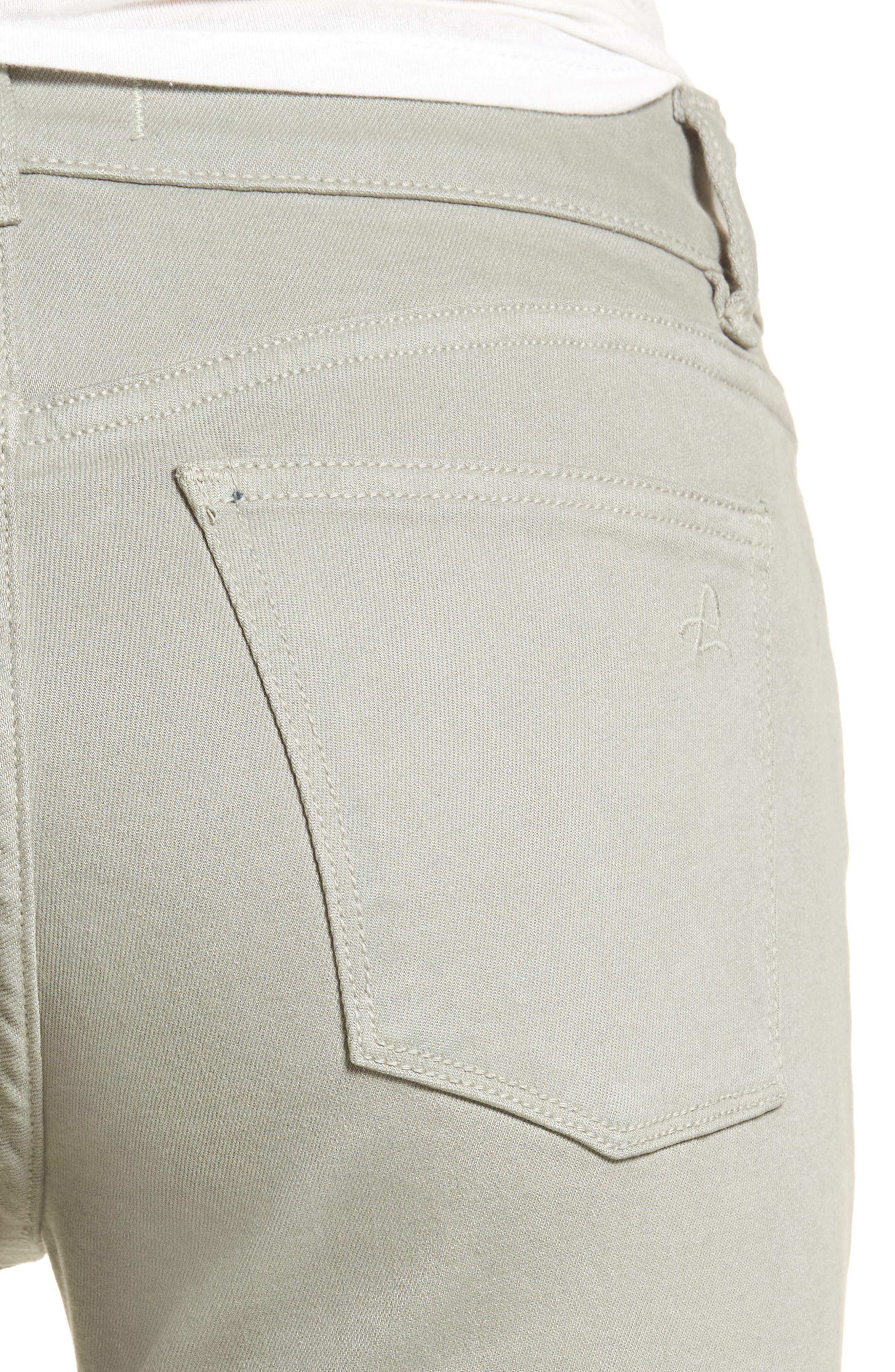 Florence Instasculpt Crop Skinny Jeans,                             Alternate thumbnail 4, color,                             Grove