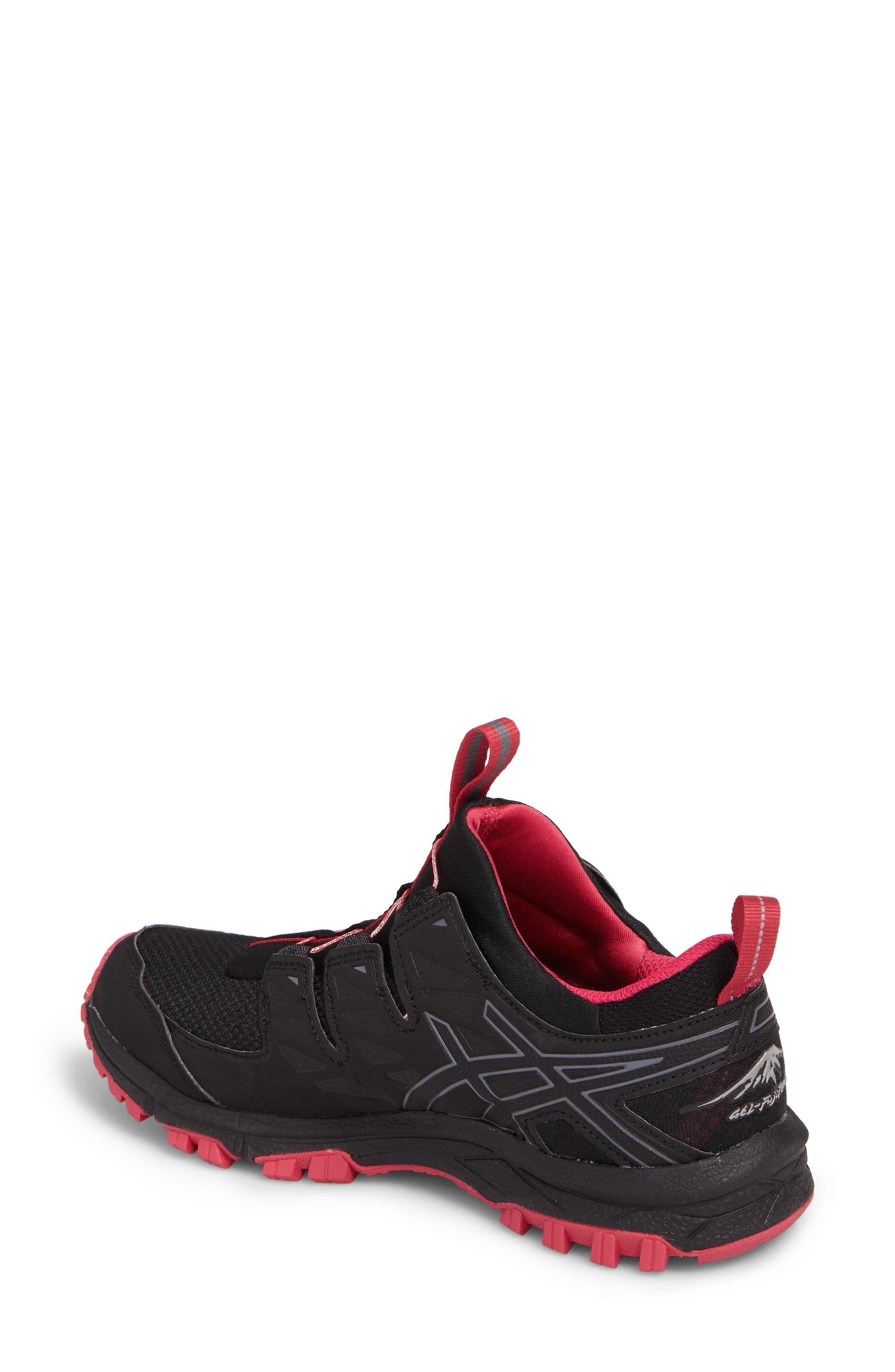 GEL-Fujirado Running Shoe,                             Alternate thumbnail 2, color,                             Black/ Carbon/ Cosmo Pink