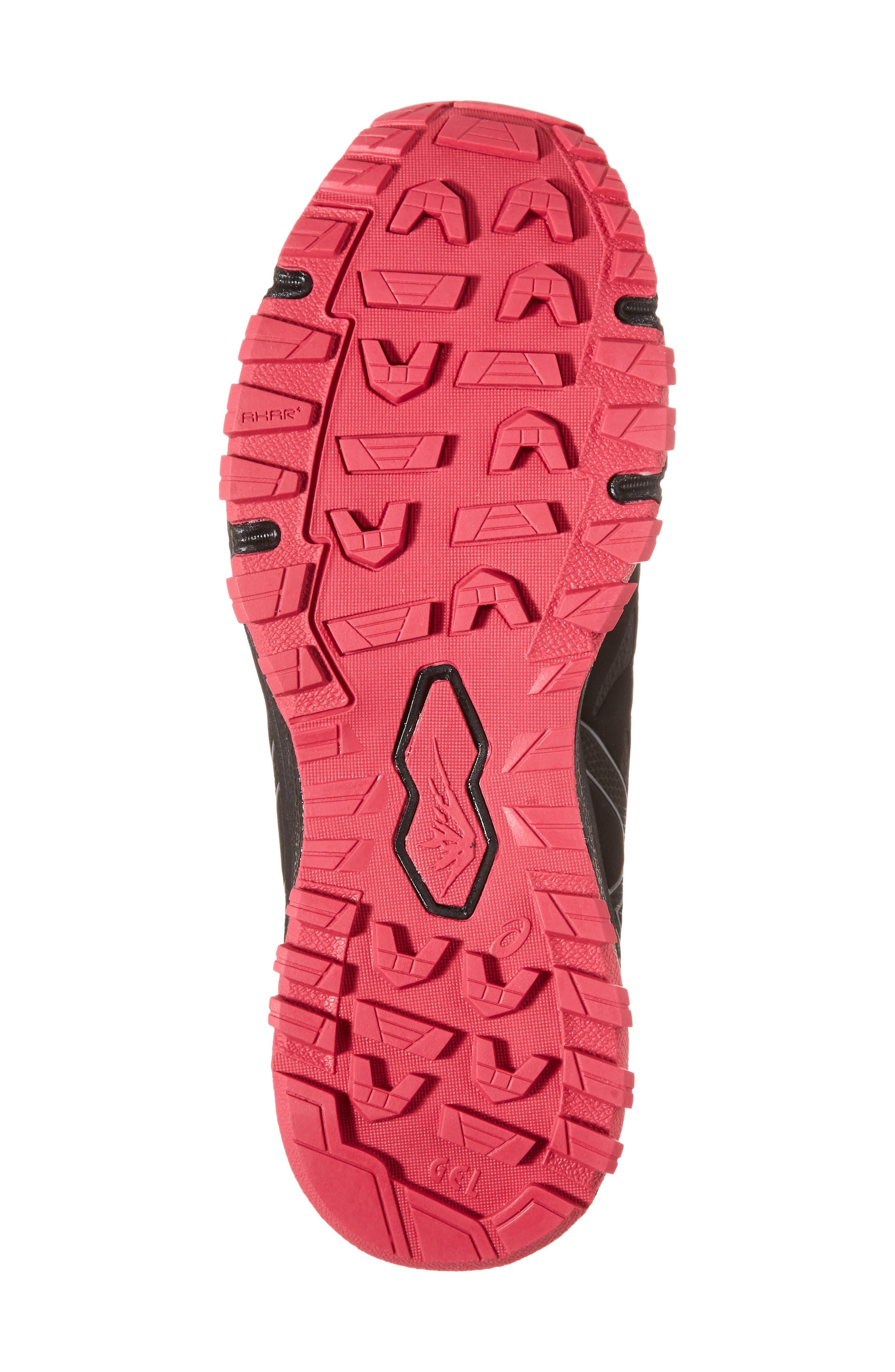 GEL-Fujirado Running Shoe,                             Alternate thumbnail 6, color,                             Black/ Carbon/ Cosmo Pink