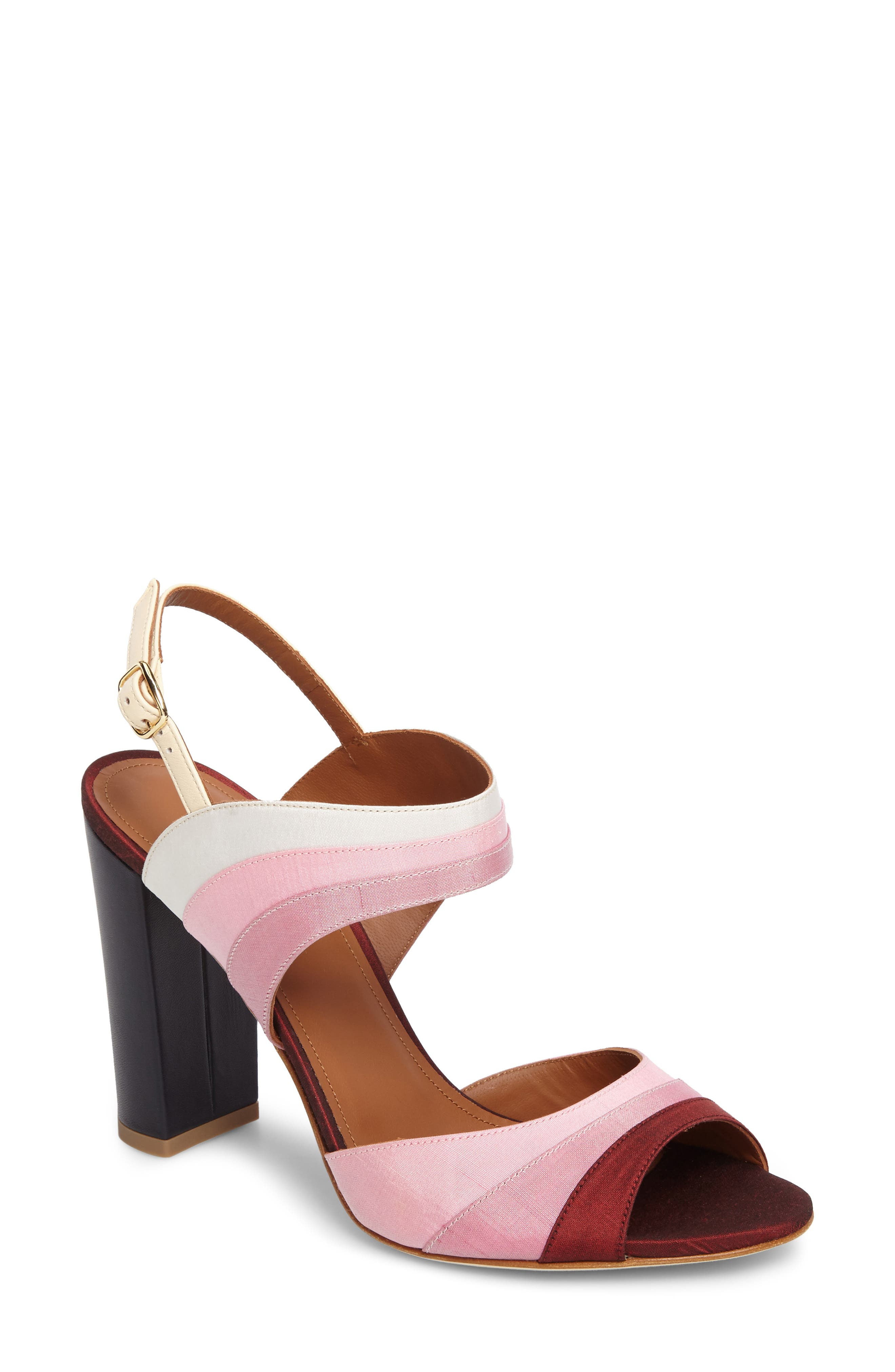 Anita Ombré Slingback Sandal,                         Main,                         color, Peach/ Rose/ Berry/ Wine