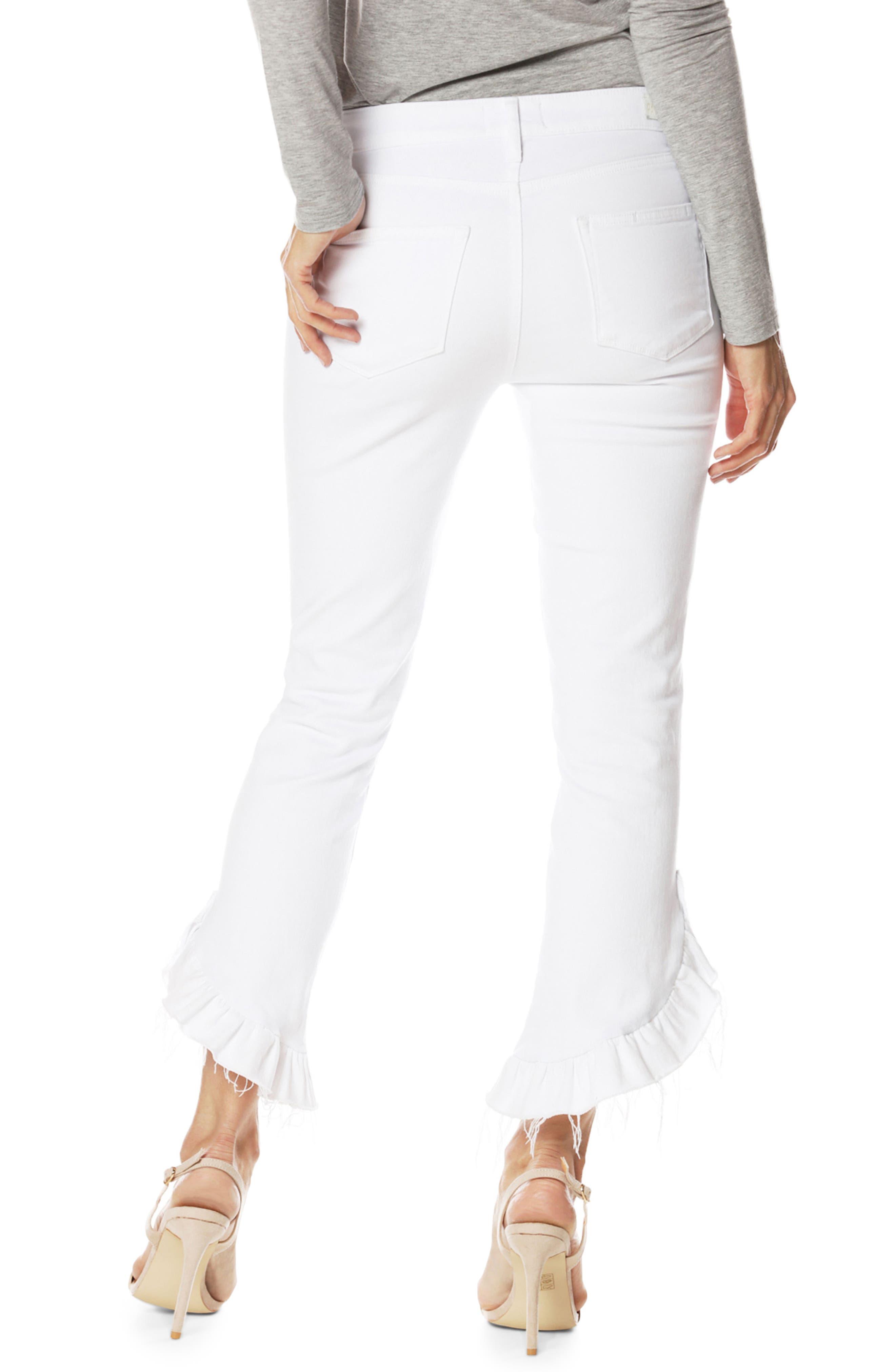 Alternate Image 3  - PAIGE Jacqueline Crop Straight Leg Jeans (Crisp White)