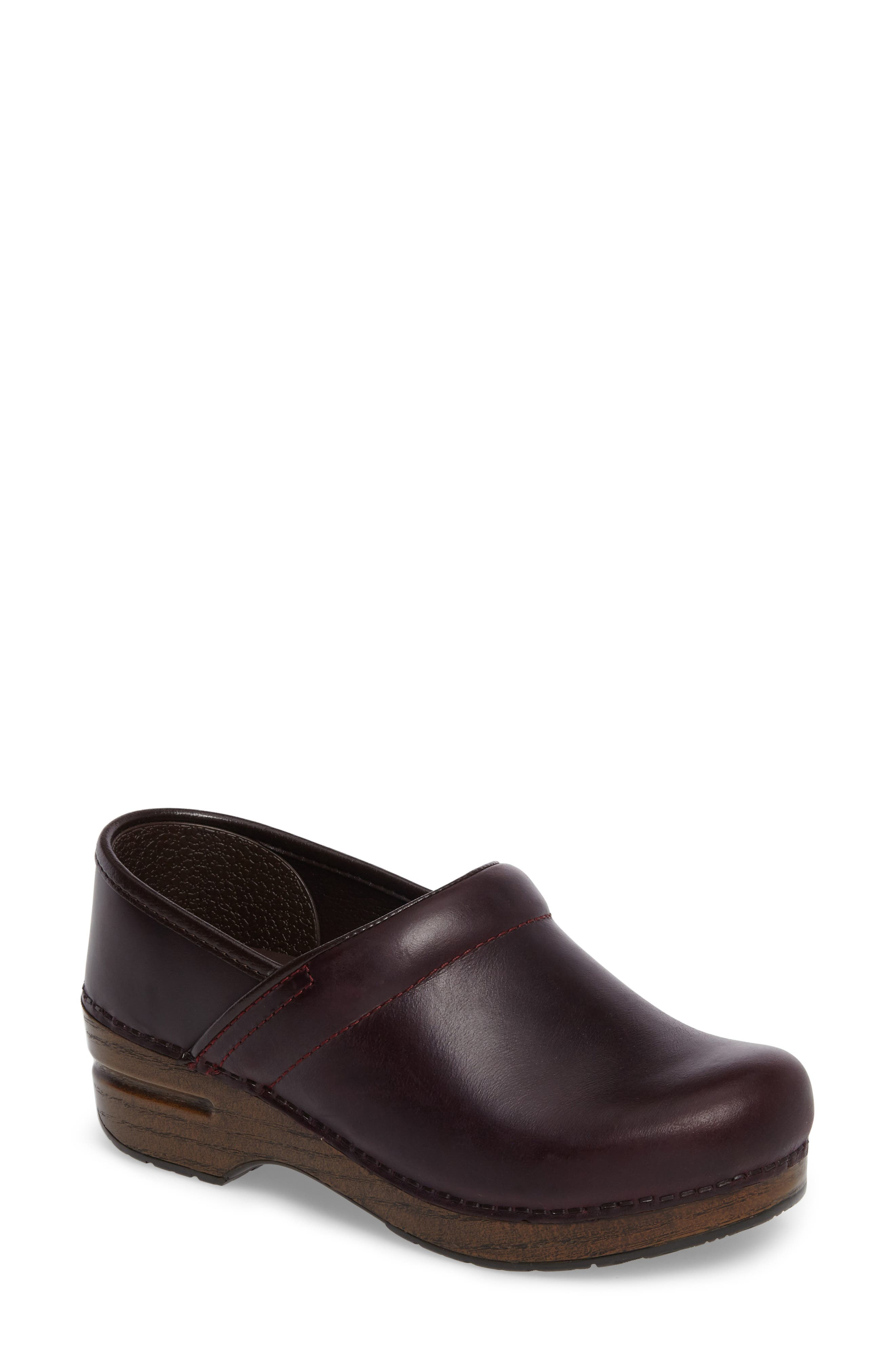 'Professional' Clog,                         Main,                         color, Cordovan Leather