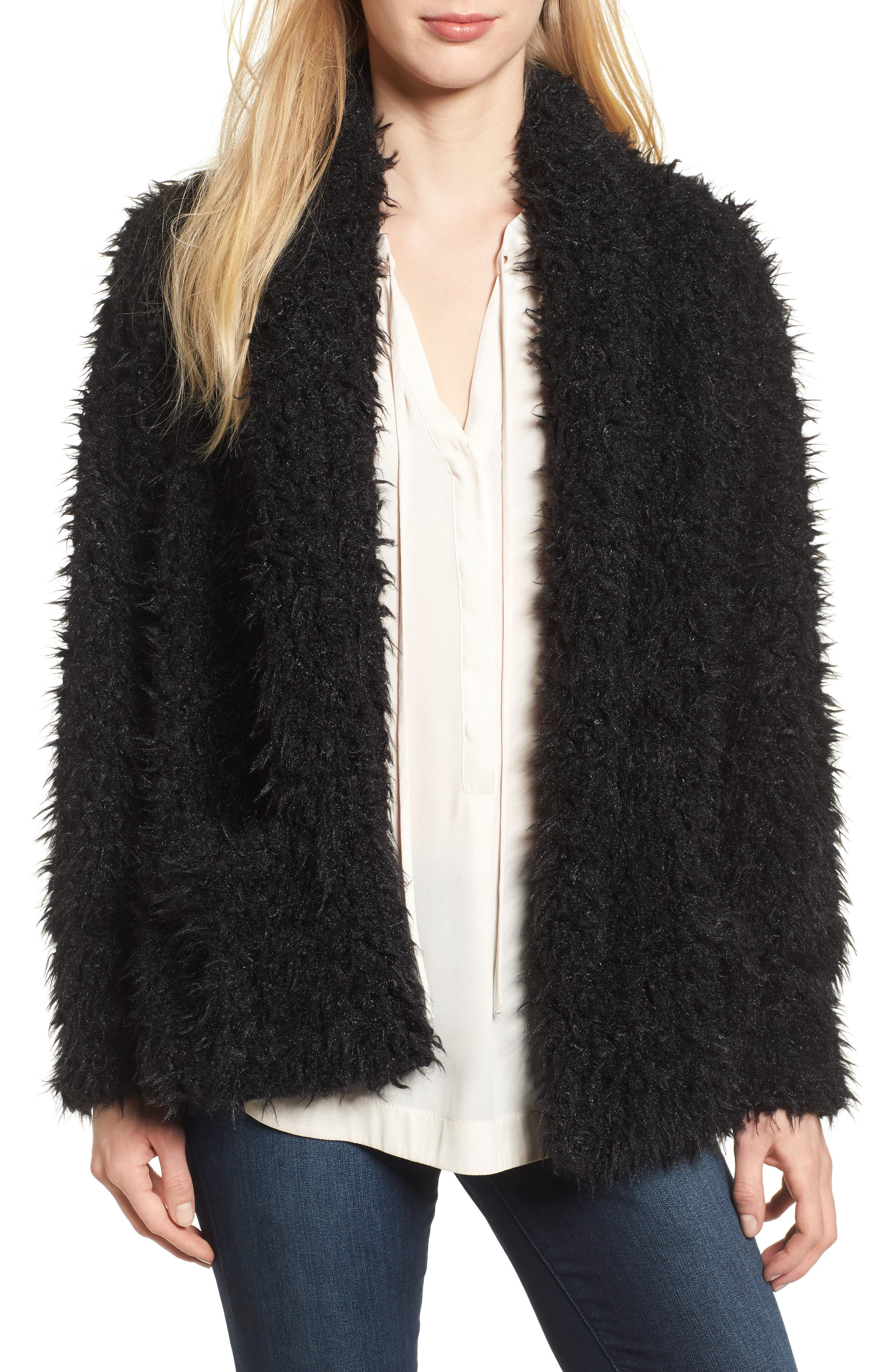 Main Image - Love, Fire Faux Fur Jacket