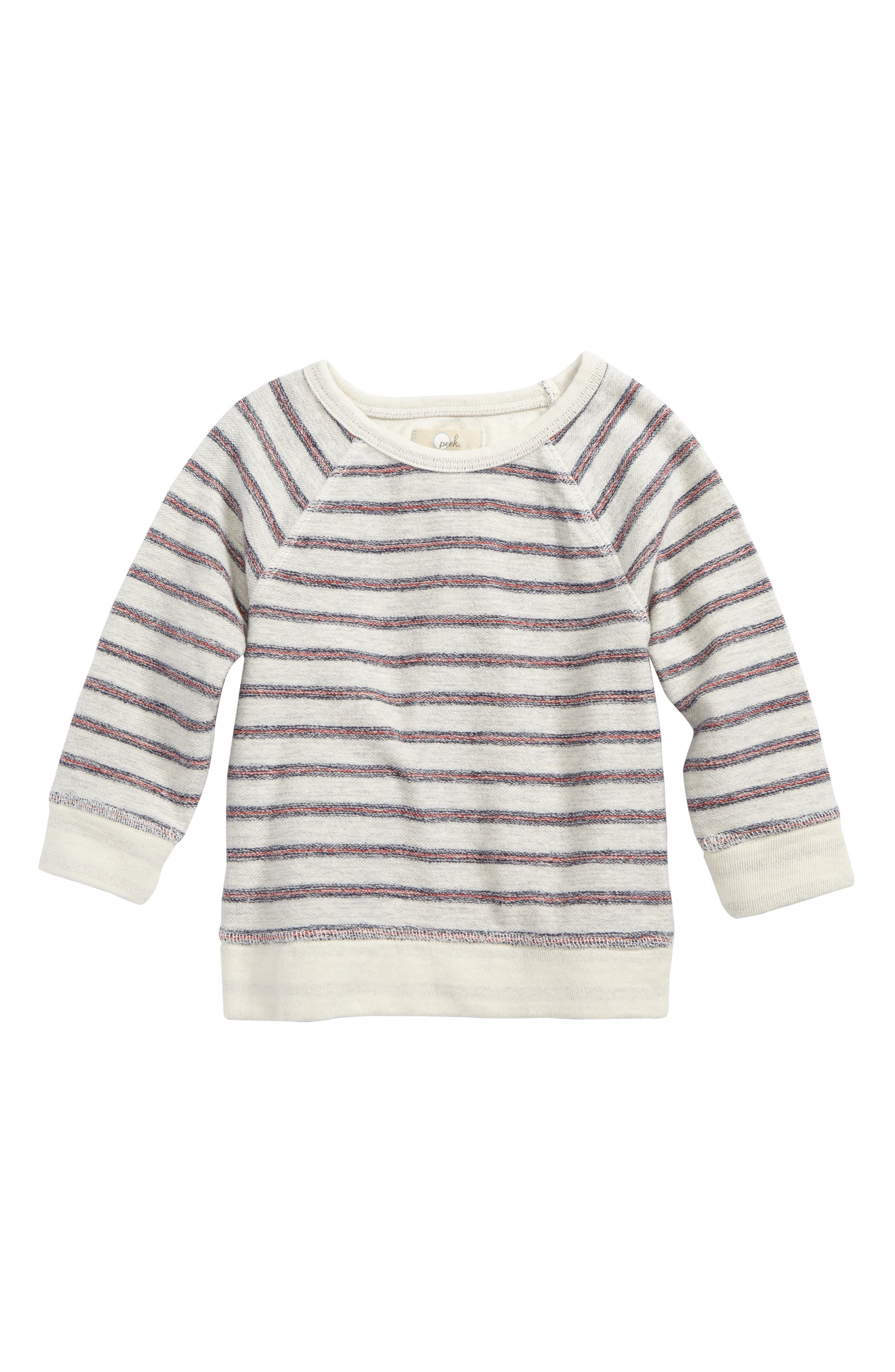 Peek Ziggy Stripe Sweatshirt,                             Main thumbnail 1, color,                             Cream