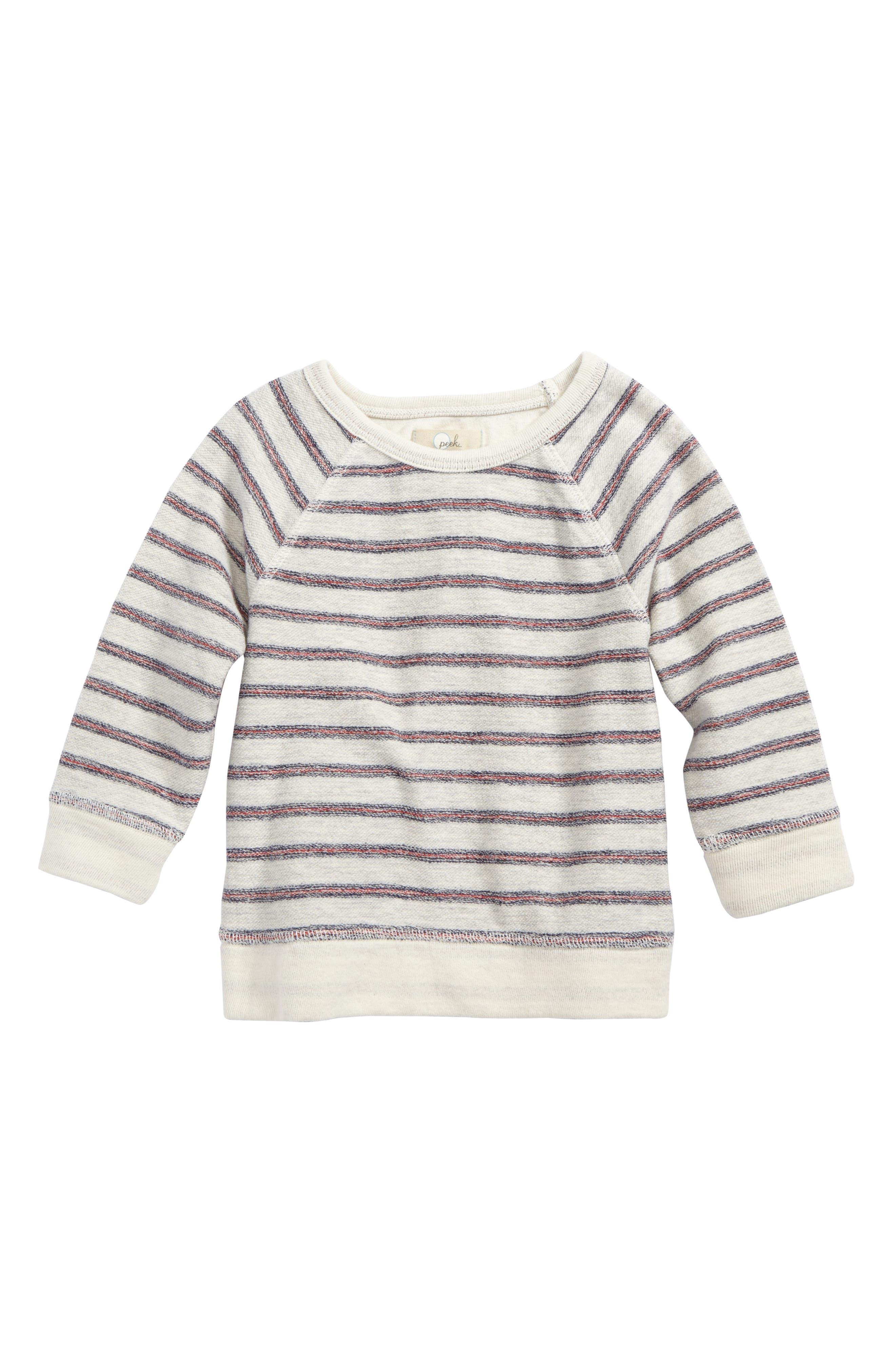 Peek Ziggy Stripe Sweatshirt,                         Main,                         color, Cream