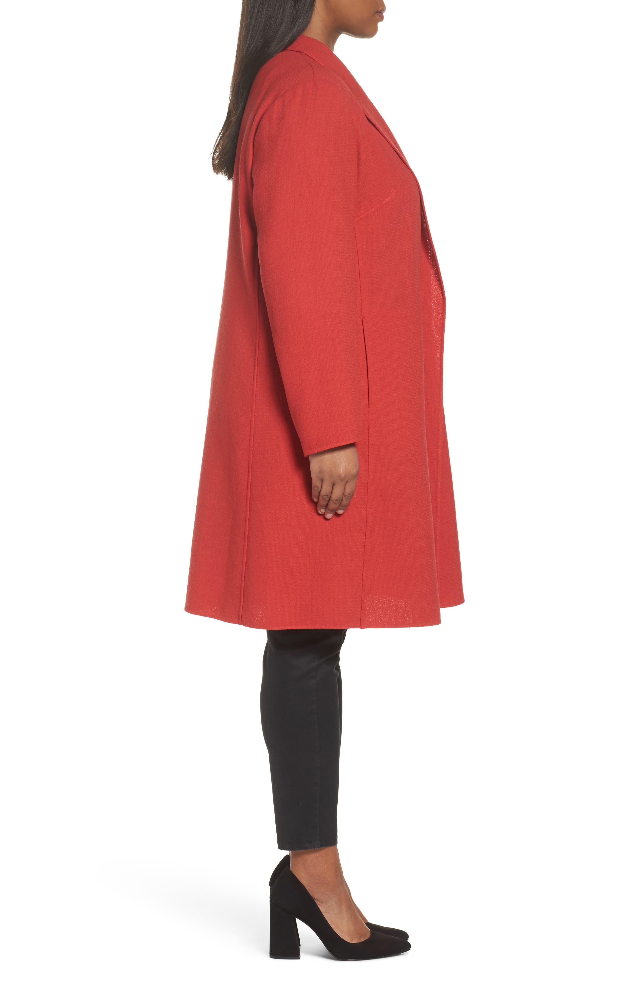 Alternate Image 3  - Lafayette 148 New York Carmelle Nouveau Crepe Jacket (Plus Size)