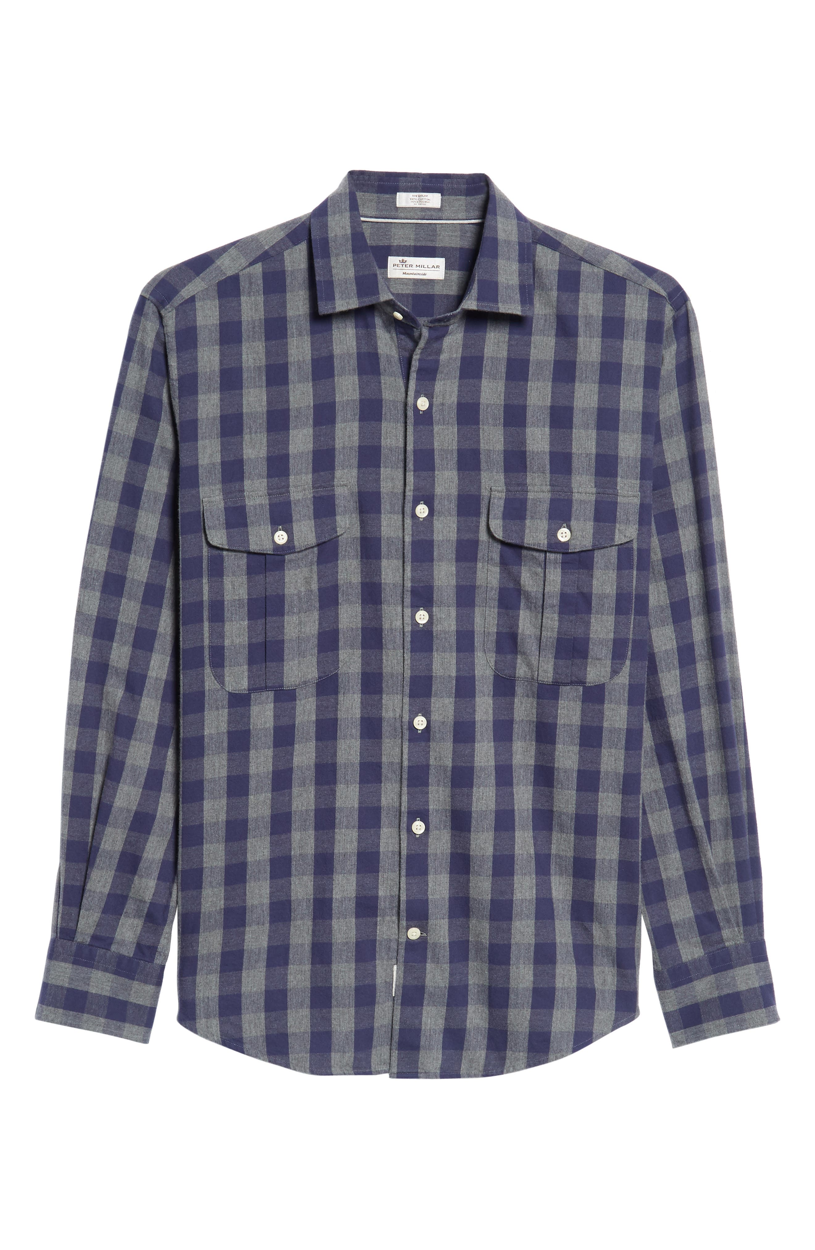 Buffalo Buddy Regular Fit Check Sport Shirt,                             Alternate thumbnail 6, color,                             Atlantic Blue