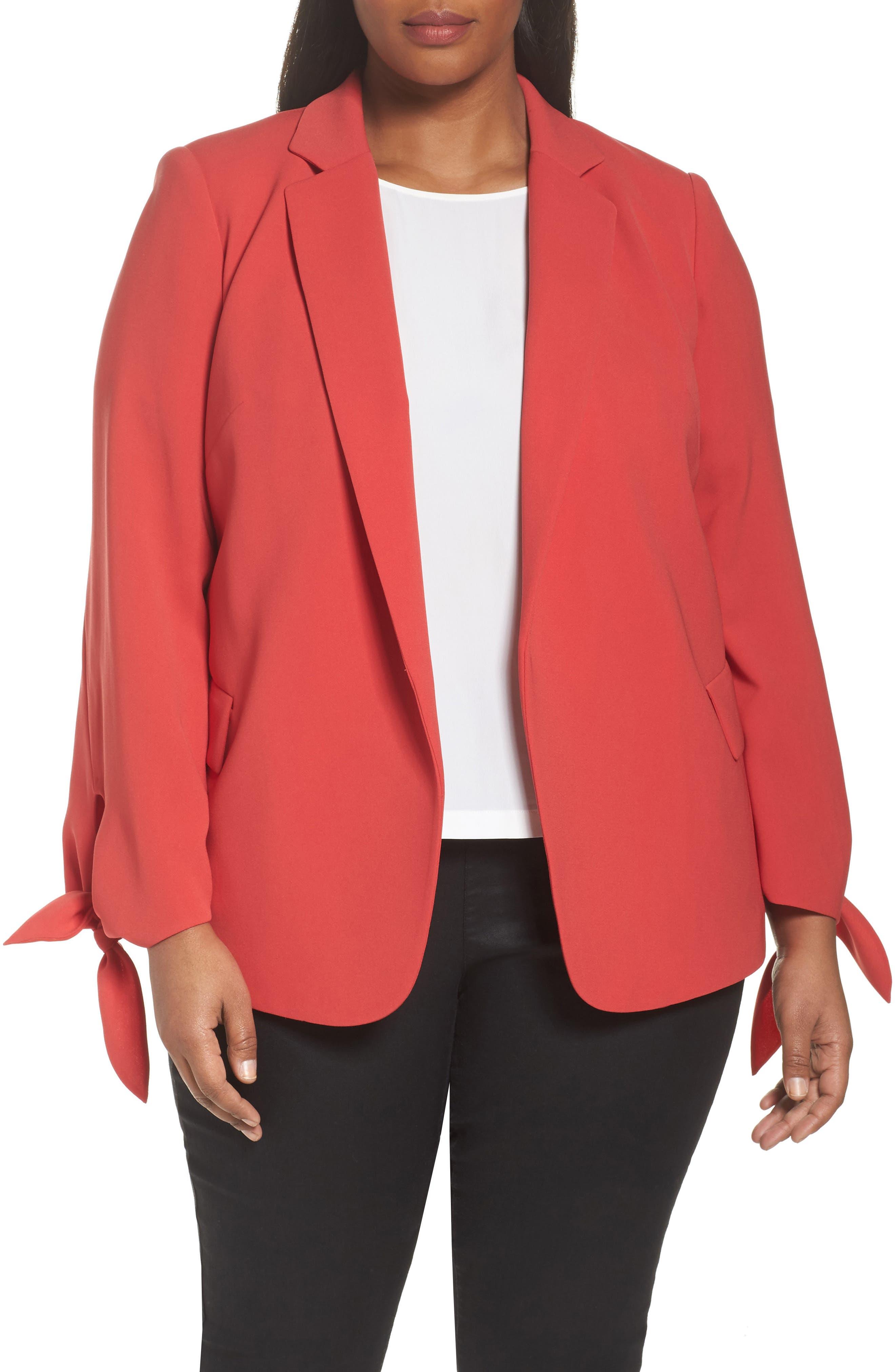 Bria Finesse Crepe Jacket,                         Main,                         color, Salsa