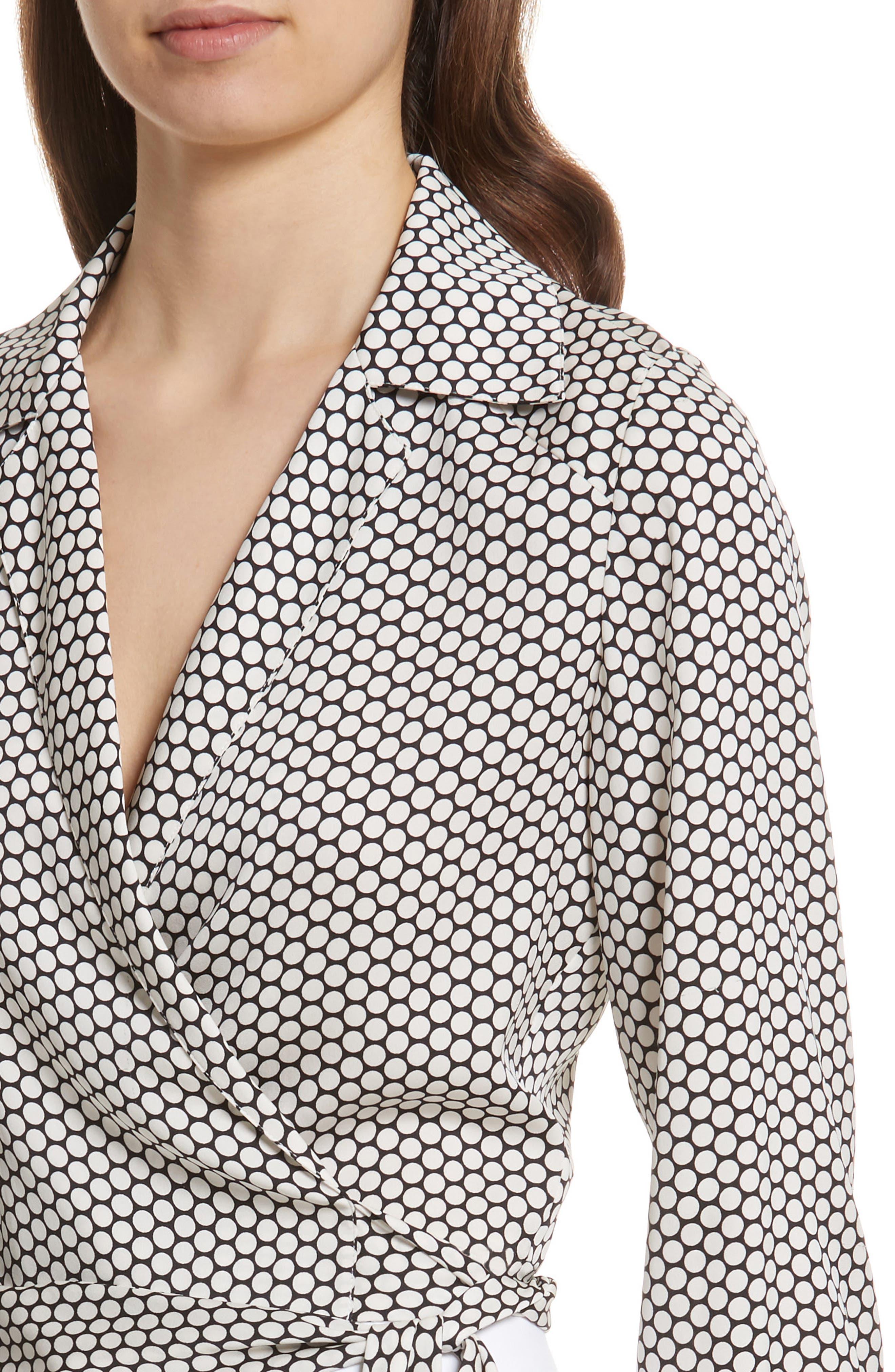 Alternate Image 4  - Diane von Furstenberg Stretch Silk Wrap Blouse