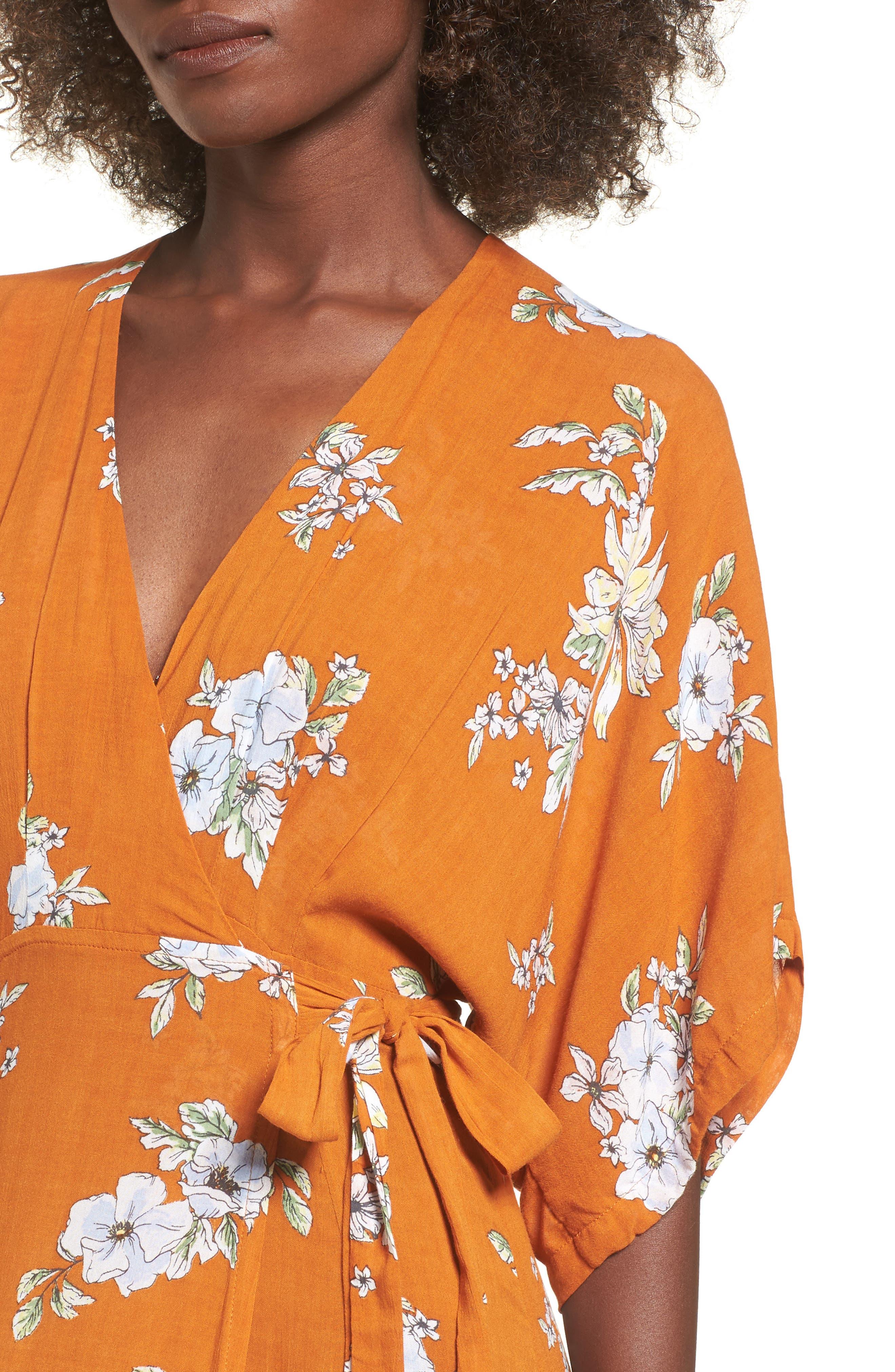 Alternate Image 4  - FAITHFULL THE BRAND Bergamo Floral Wrap Maxi Dress