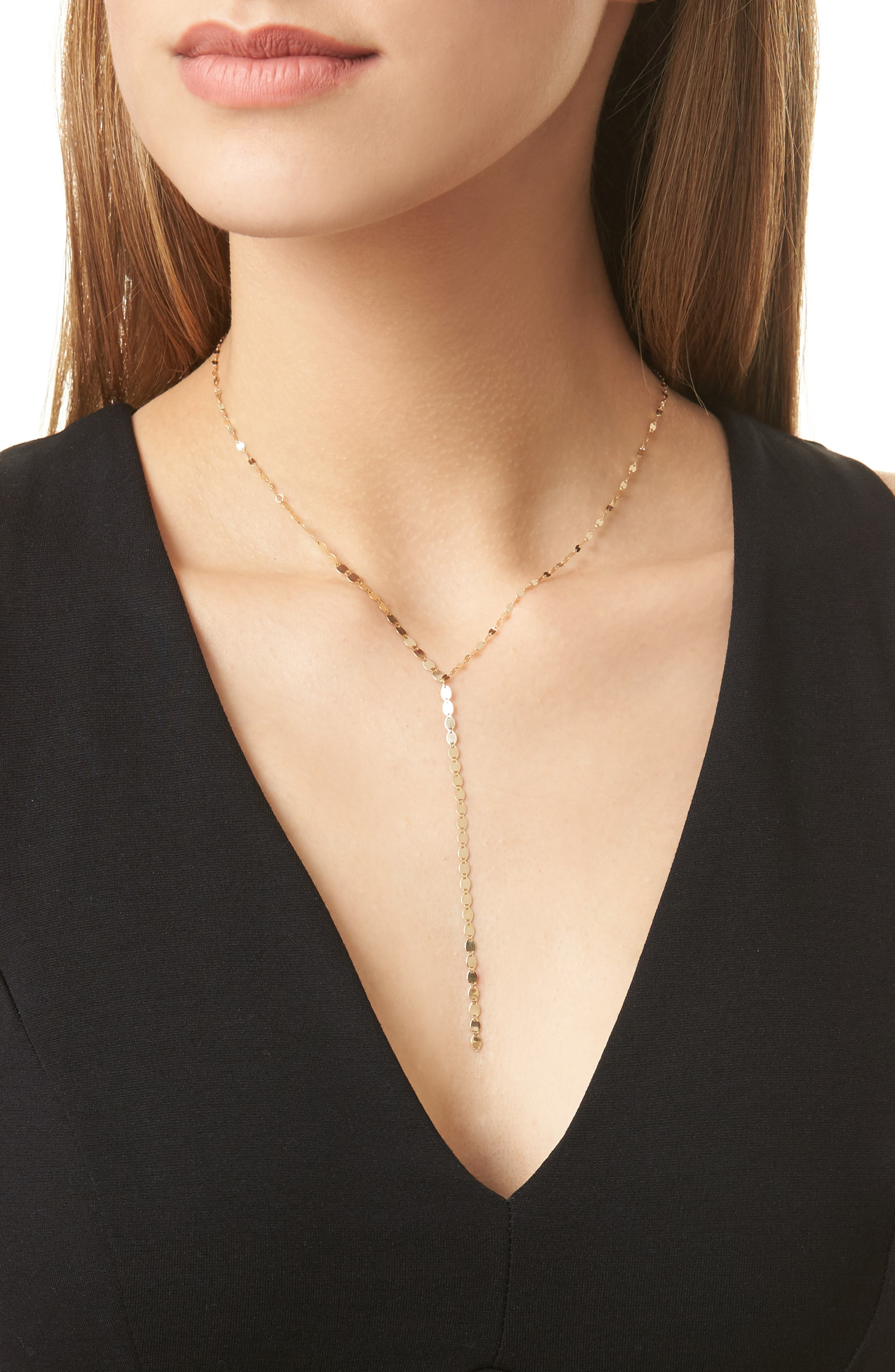 'Nude' Y-Necklace,                             Alternate thumbnail 2, color,                             Yellow Gold