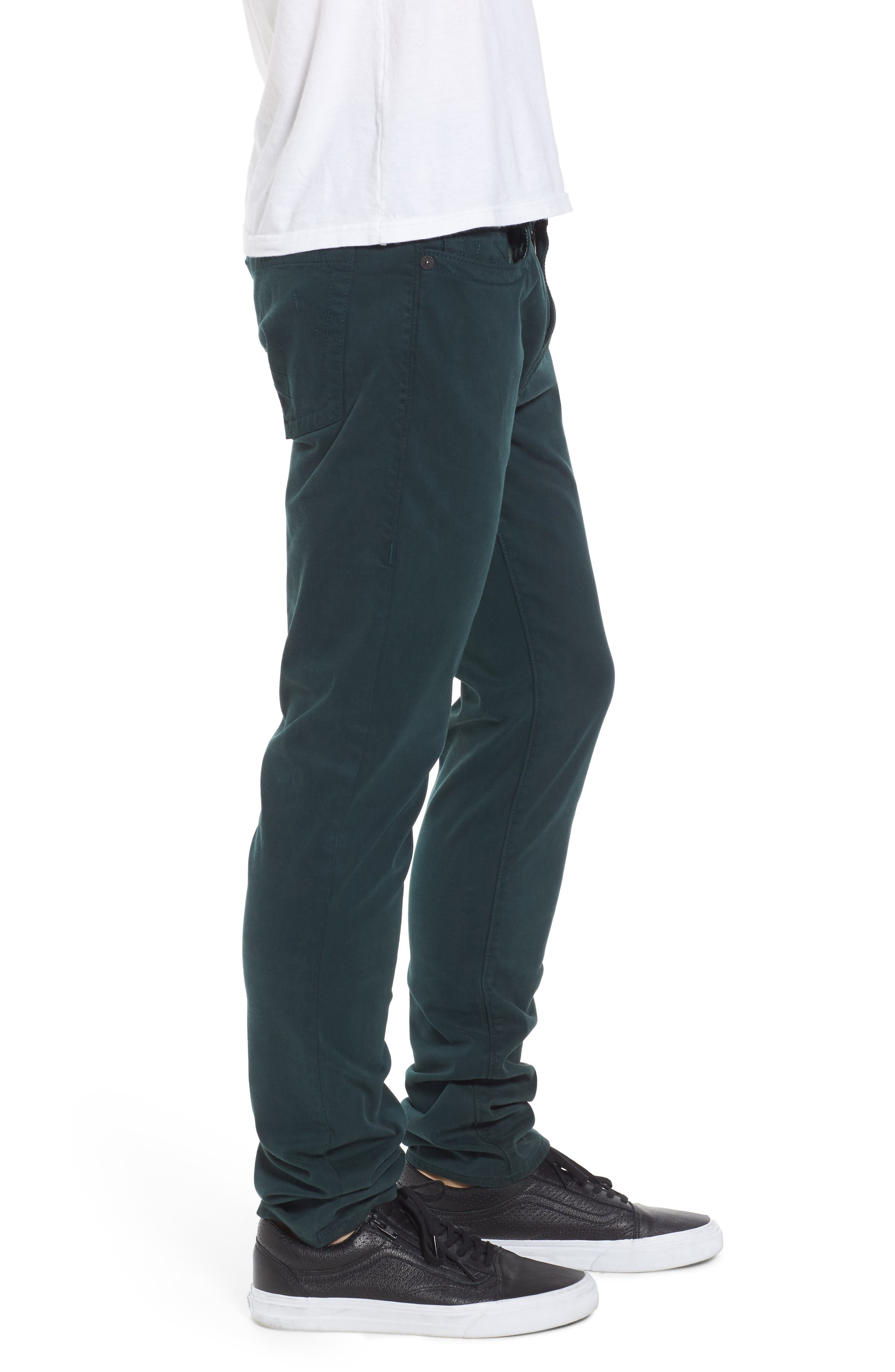 Rocco Skinny Fit Jeans,                             Alternate thumbnail 3, color,                             Hunter Green