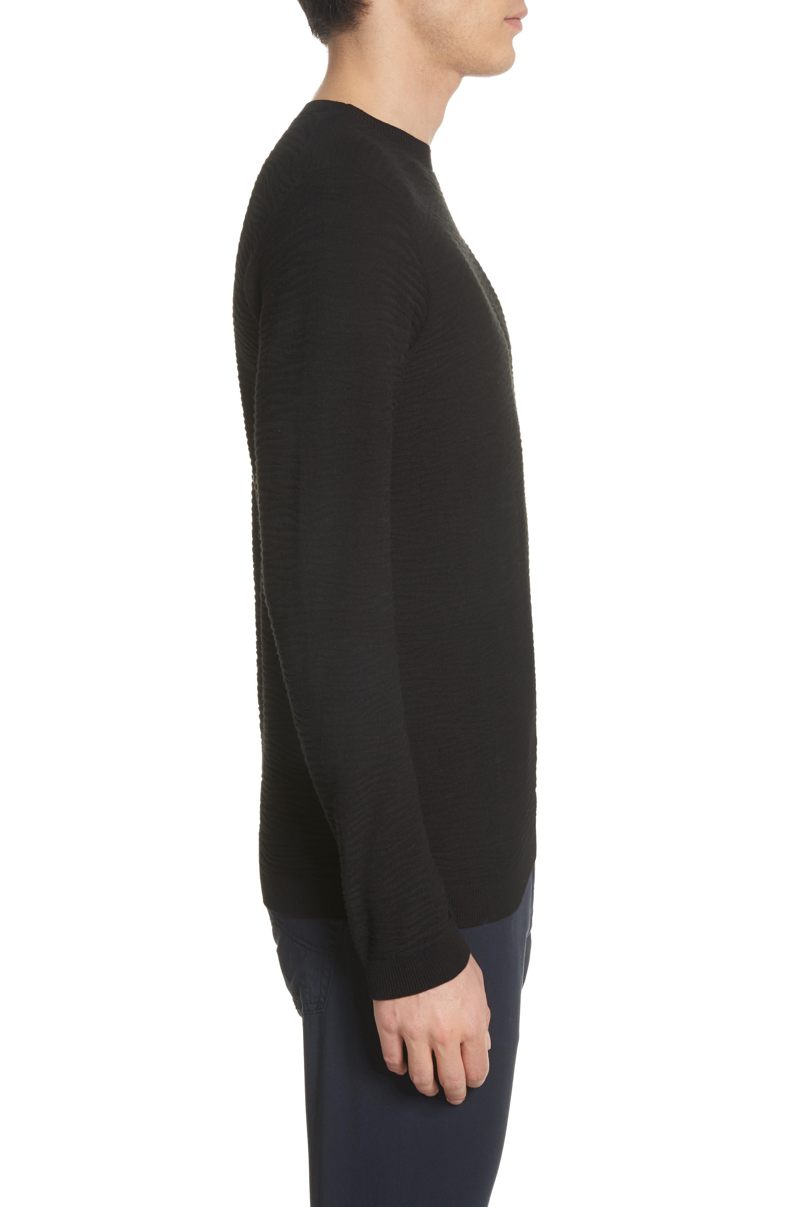 Slim Fit Allover Links Sweater,                             Alternate thumbnail 3, color,                             Black