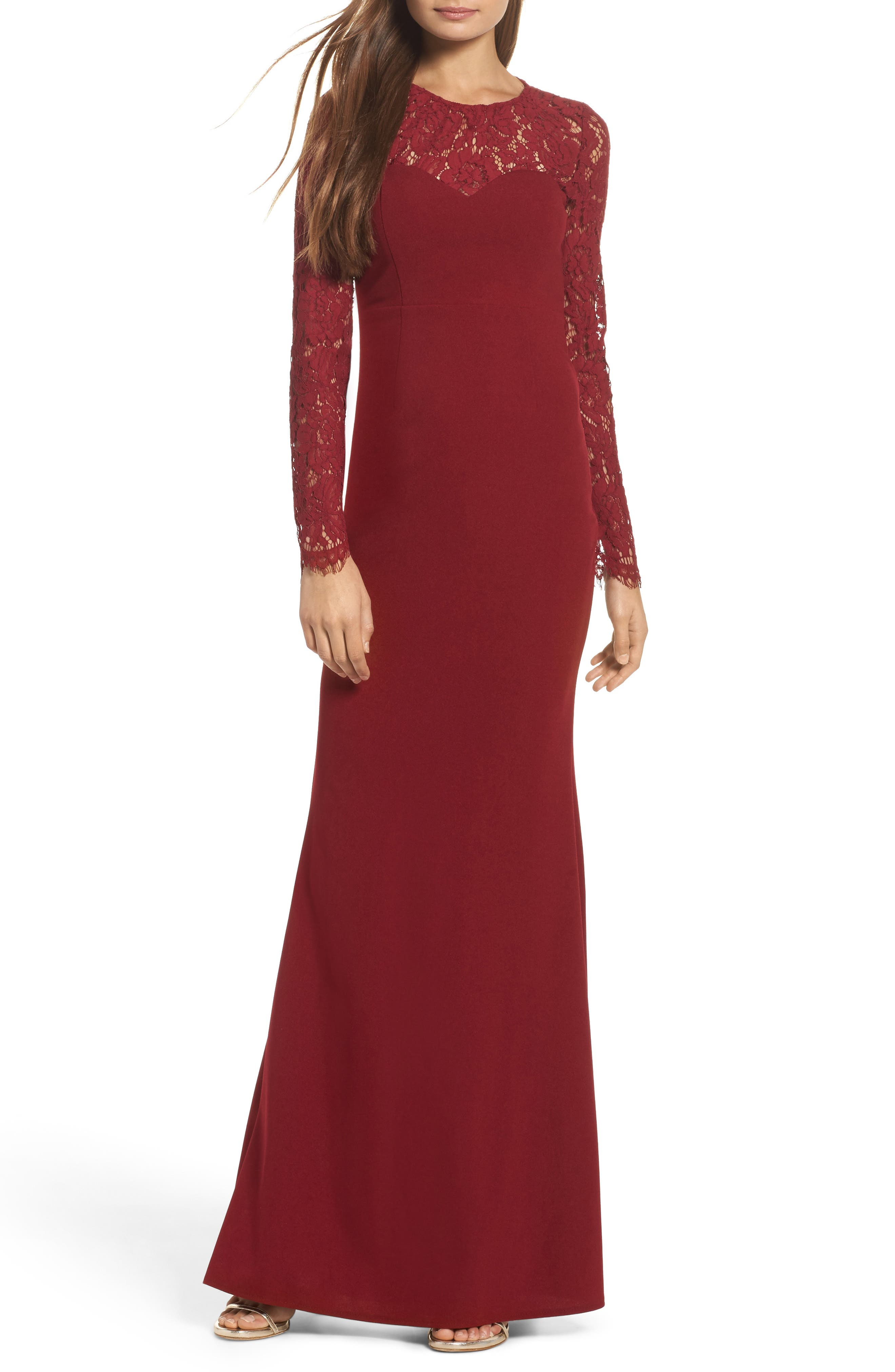 Whenever You Call Maxi Dress,                             Main thumbnail 1, color,                             Wine
