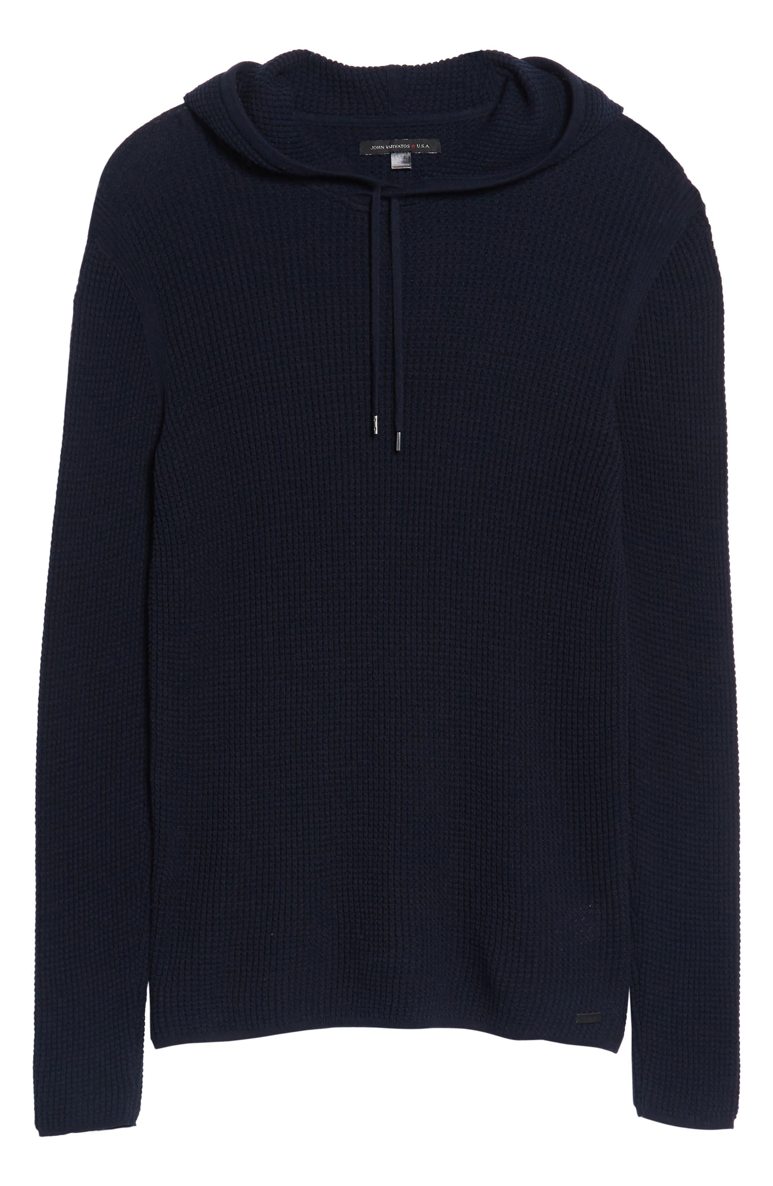 Thermal Pullover Hoodie,                             Alternate thumbnail 6, color,                             Marine