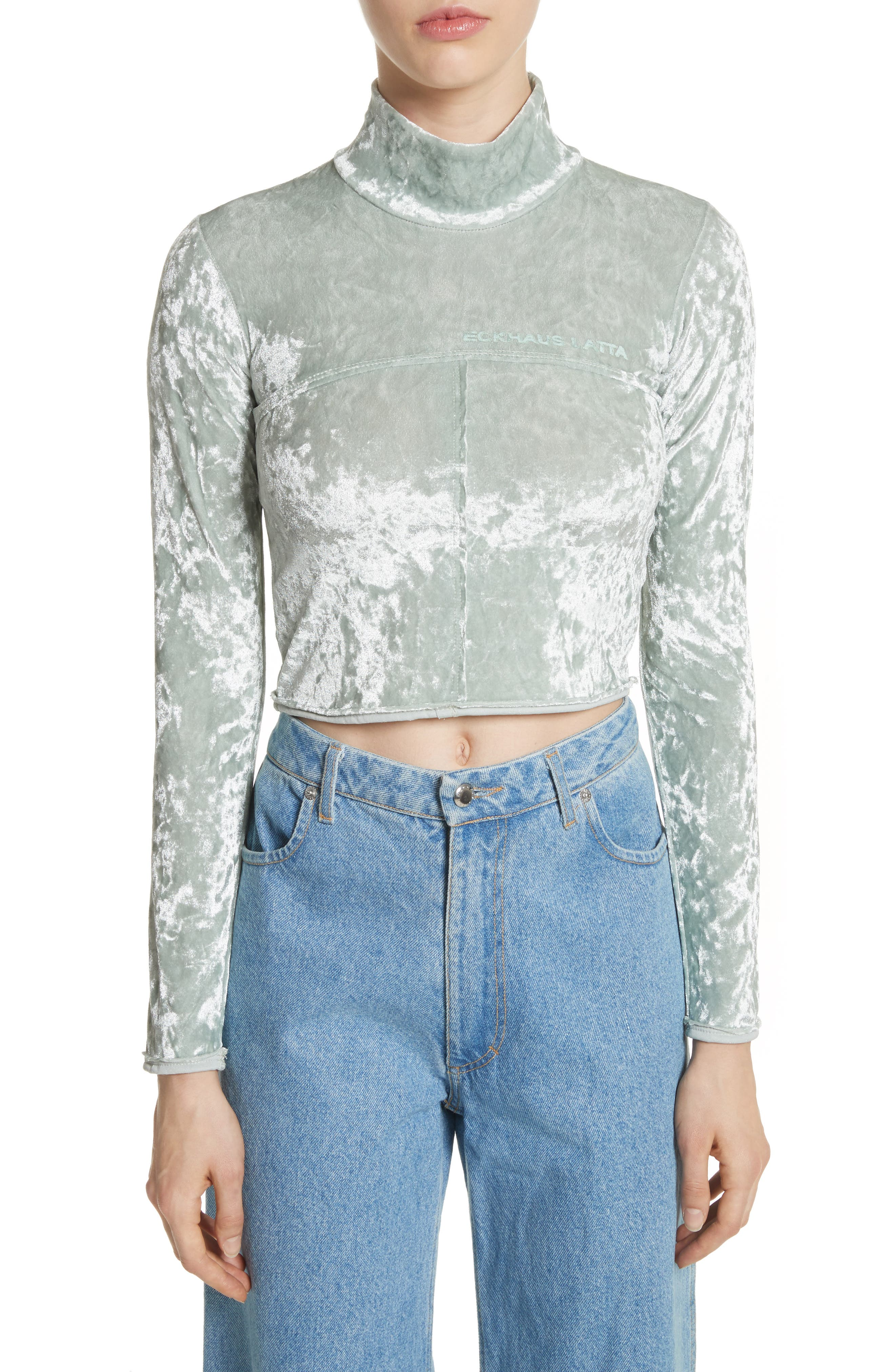 Lapped Baby Turtleneck,                             Main thumbnail 1, color,                             Ice