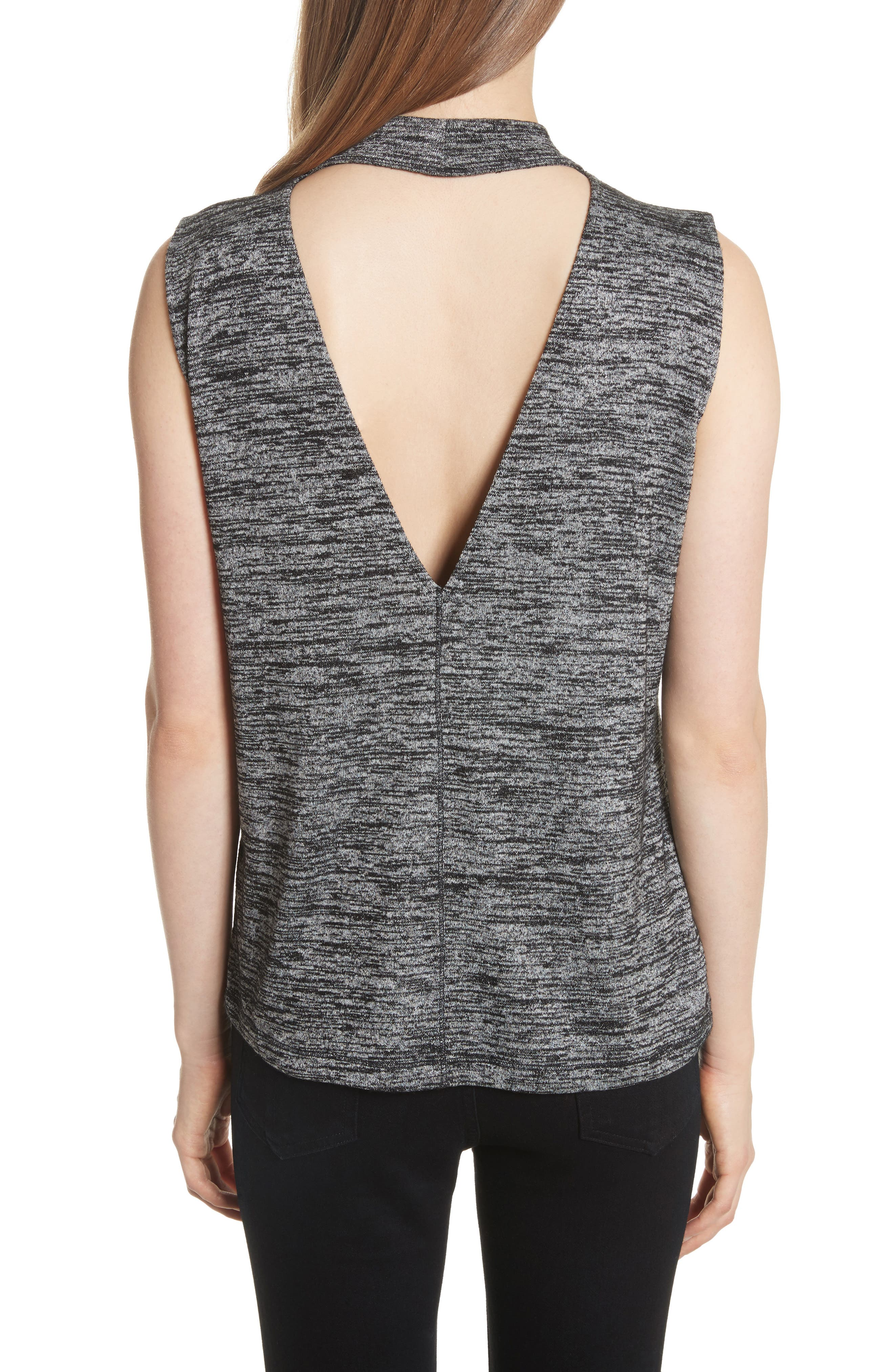 Charley Tank,                             Alternate thumbnail 2, color,                             Black Heather