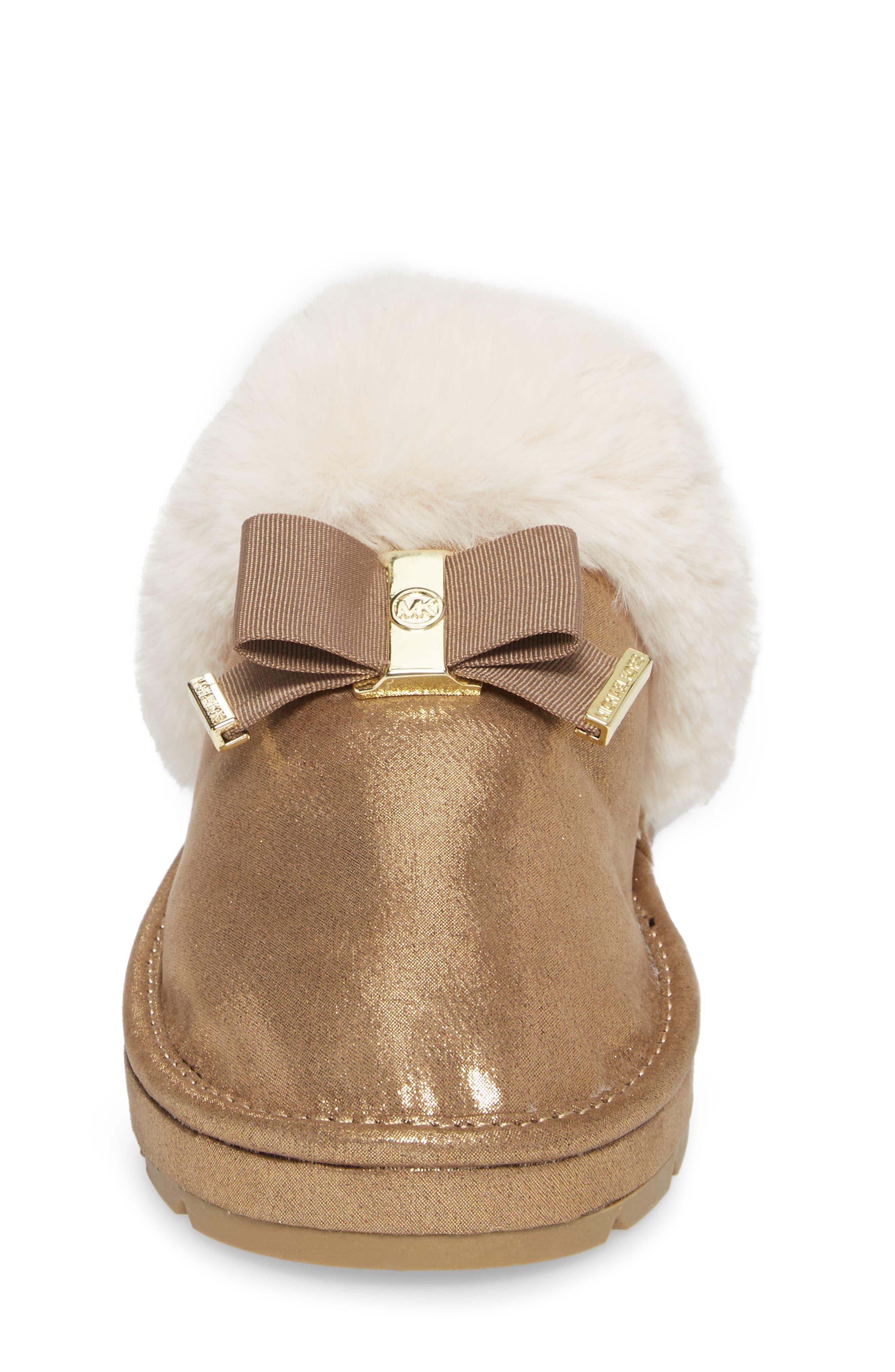 Alternate Image 4  - MICHAEL Michael Kors Grace Bow Faux Fur Lined Mule (Toddler, Little Kid & Big Kid)