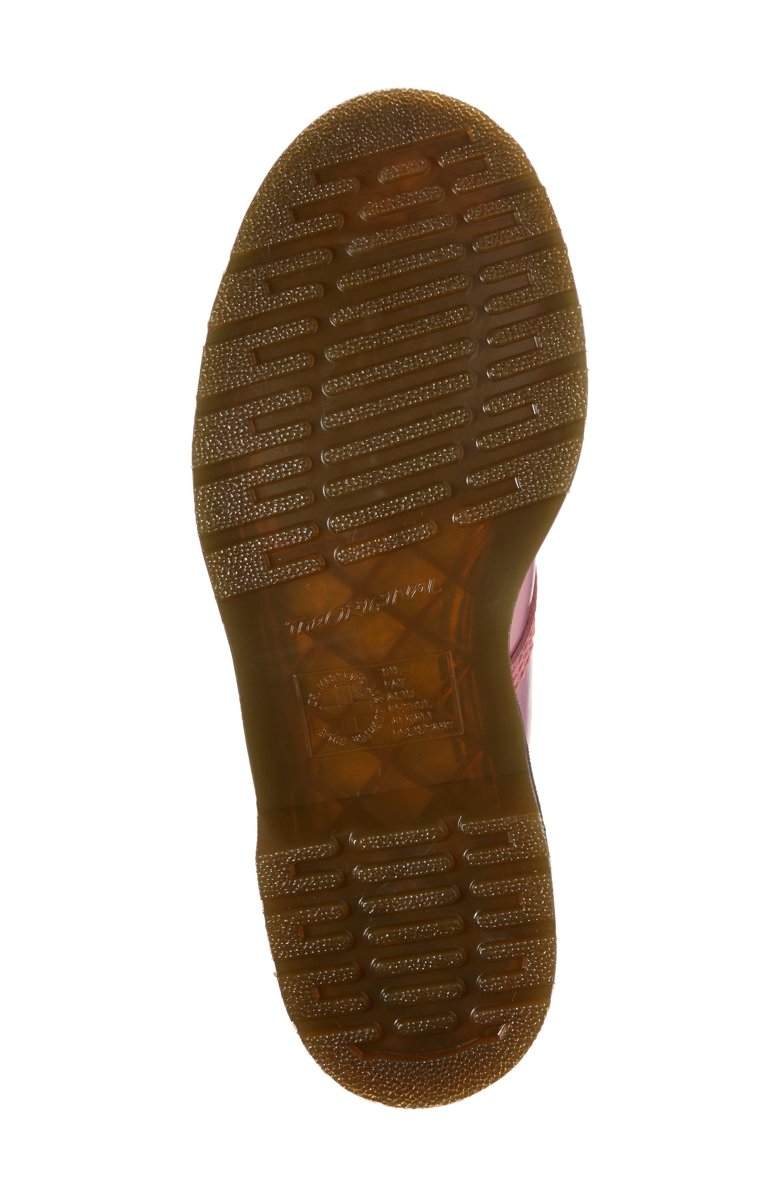 Pascal Metallic Combat Boot,                             Alternate thumbnail 7, color,                             Pink Metallic Leather