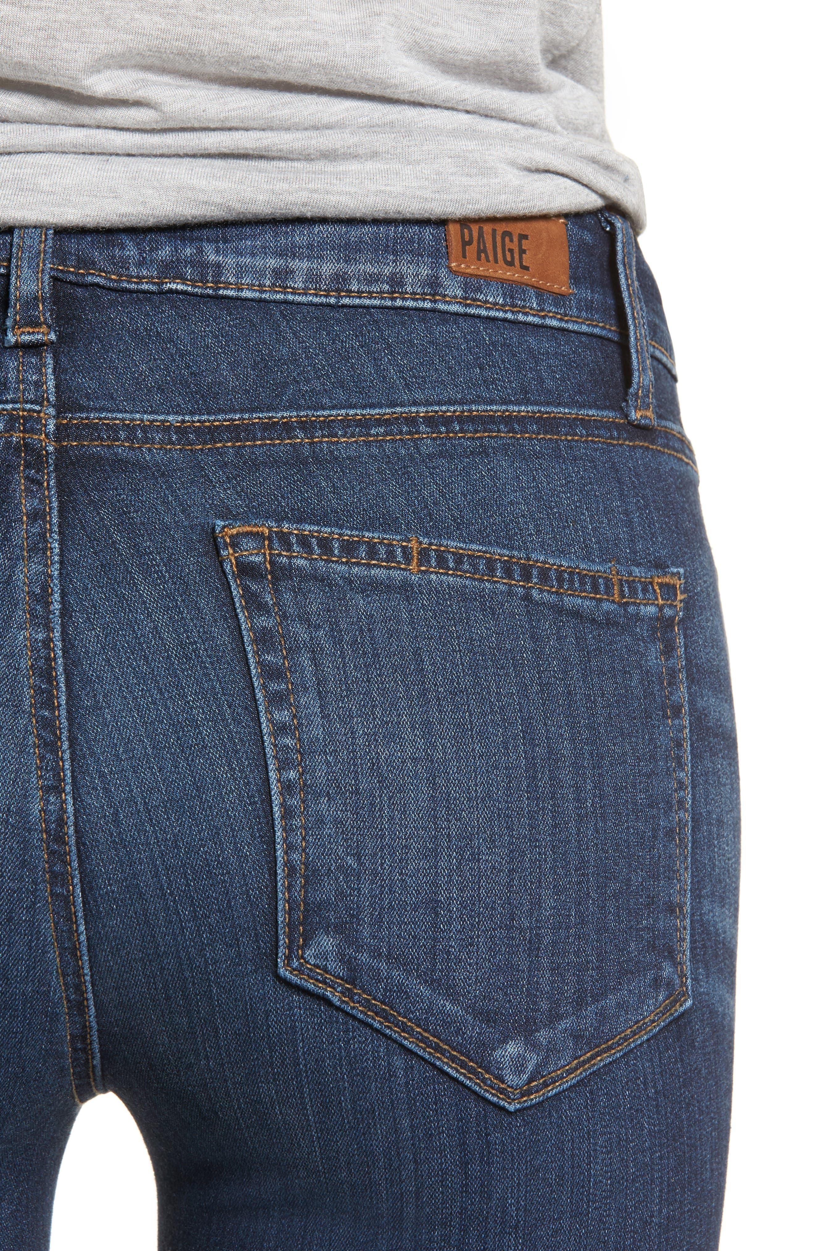 Transcend - Verdugo Ankle Ultra Skinny Jeans,                             Alternate thumbnail 4, color,                             Oaklyn