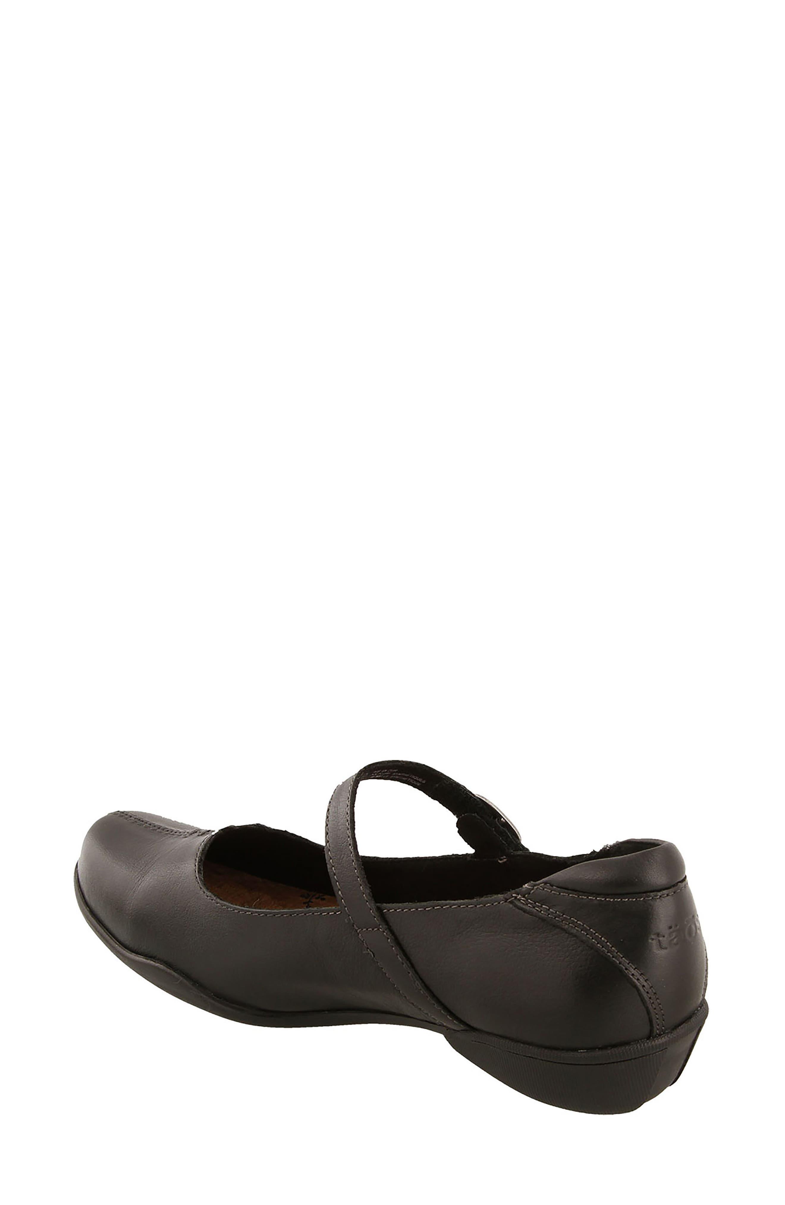 Ta Dah Mary Jane Flat,                             Alternate thumbnail 2, color,                             Black Leather