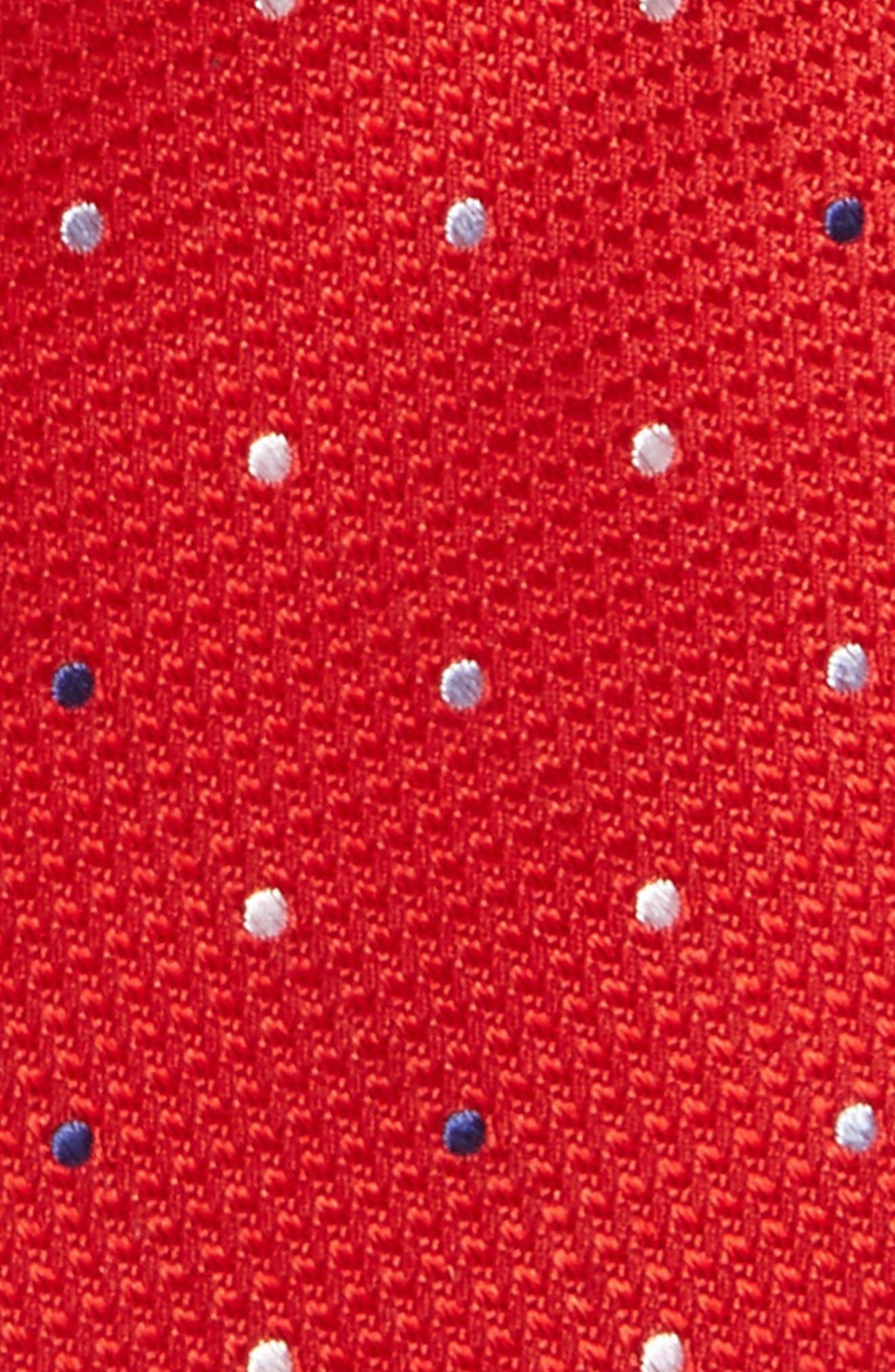 Alternate Image 2  - Nordstrom Dot Silk Tie (Big Boys)