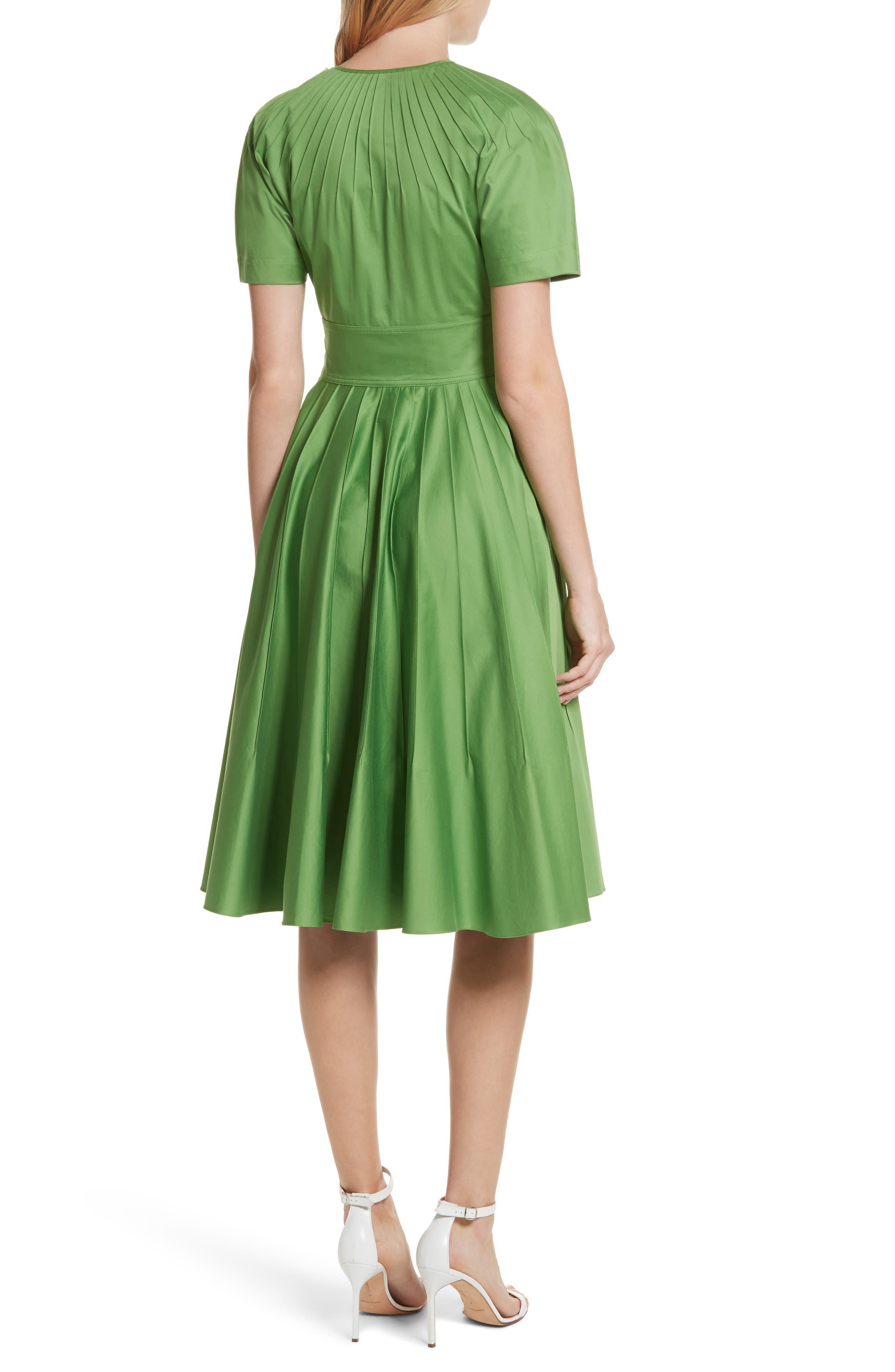 Diane von Furstenberg Pintuck Dress,                             Alternate thumbnail 2, color,                             Grass