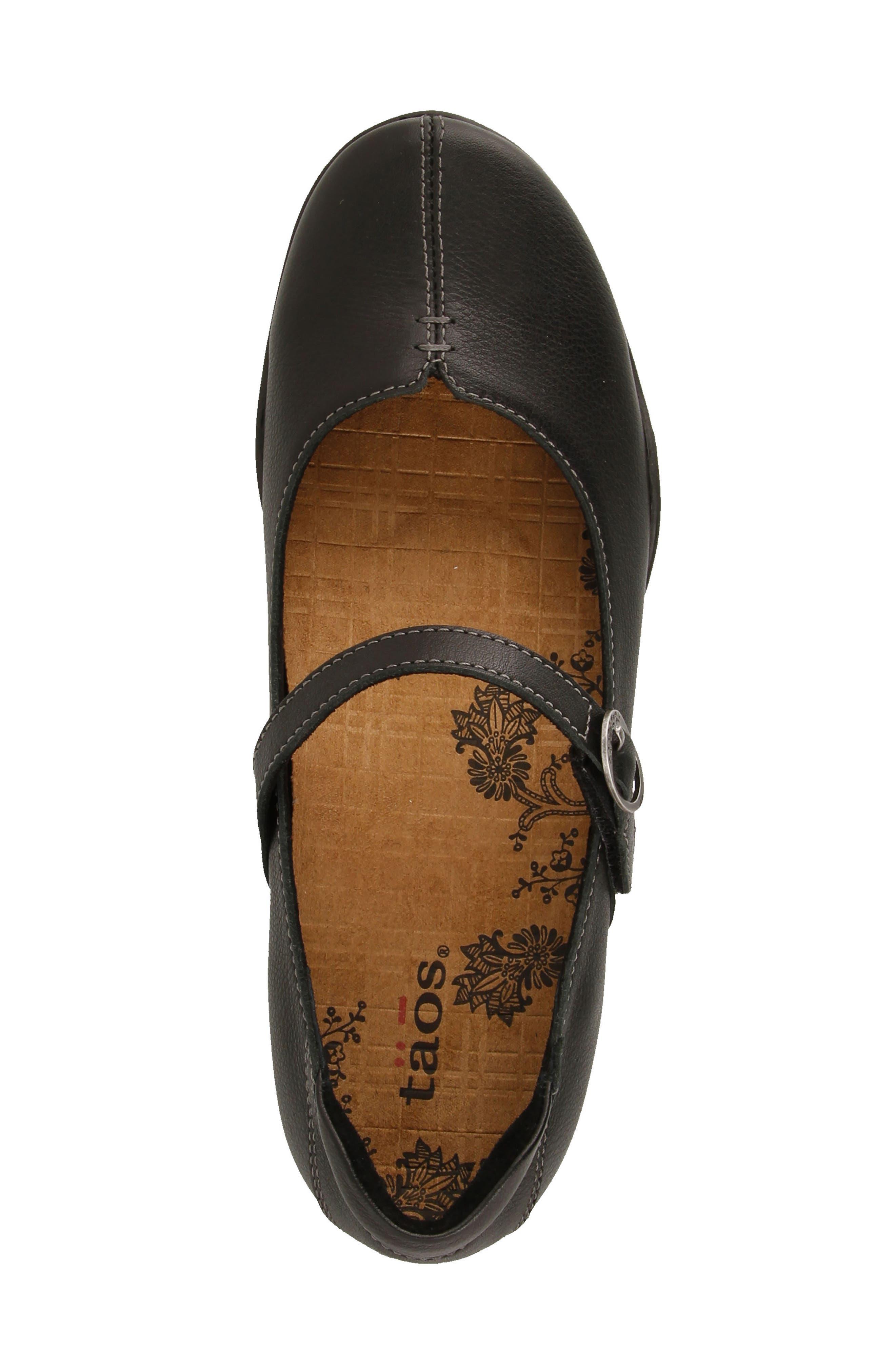 Ta Dah Mary Jane Flat,                             Alternate thumbnail 5, color,                             Black Leather
