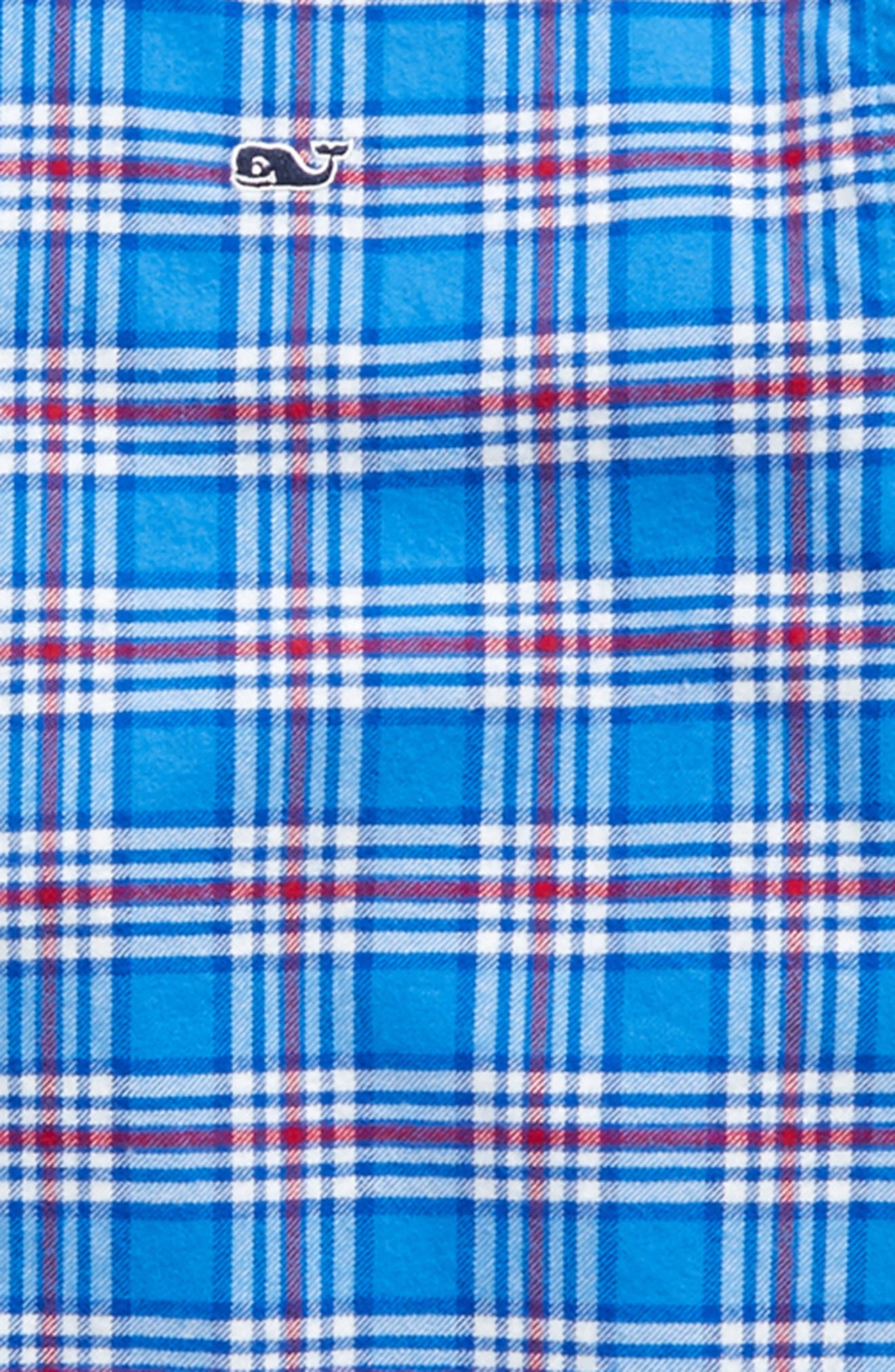 Chandler Pond Plaid Flannel Shirt,                             Alternate thumbnail 2, color,                             Hull Blue