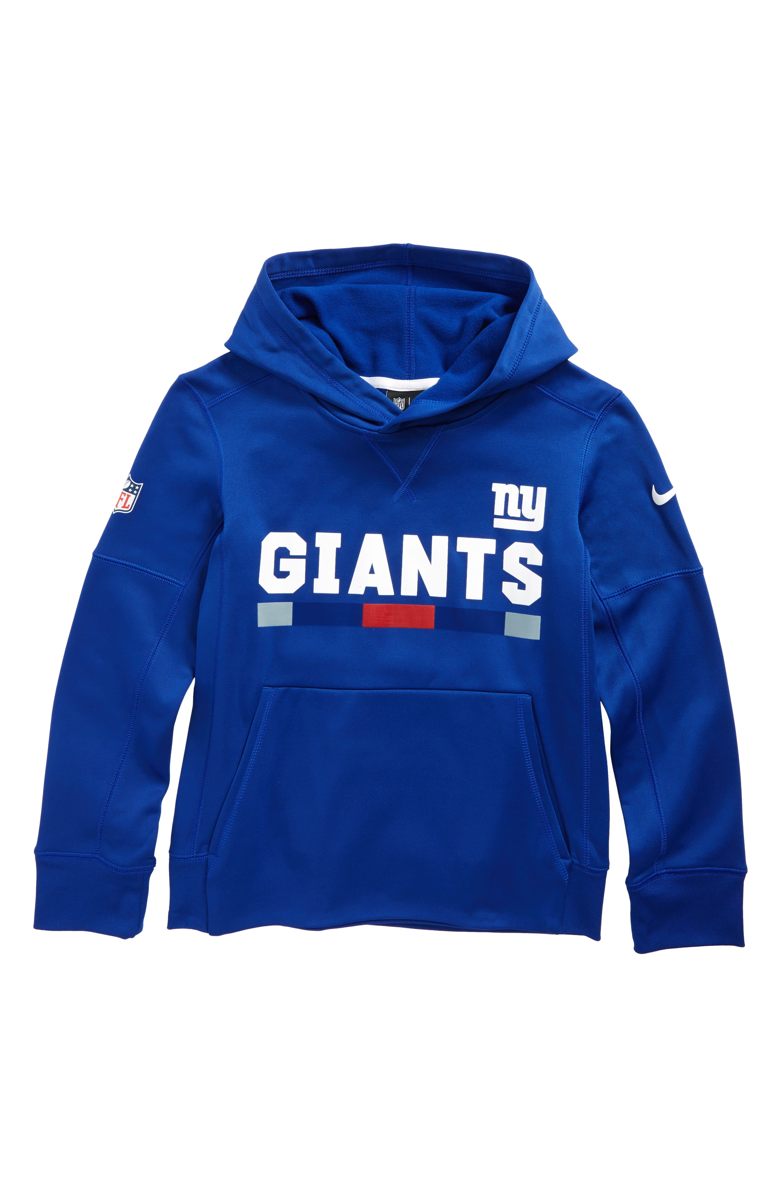 Alternate Image 1 Selected - Nike Therma New York Giants Hoodie (Big Boys)