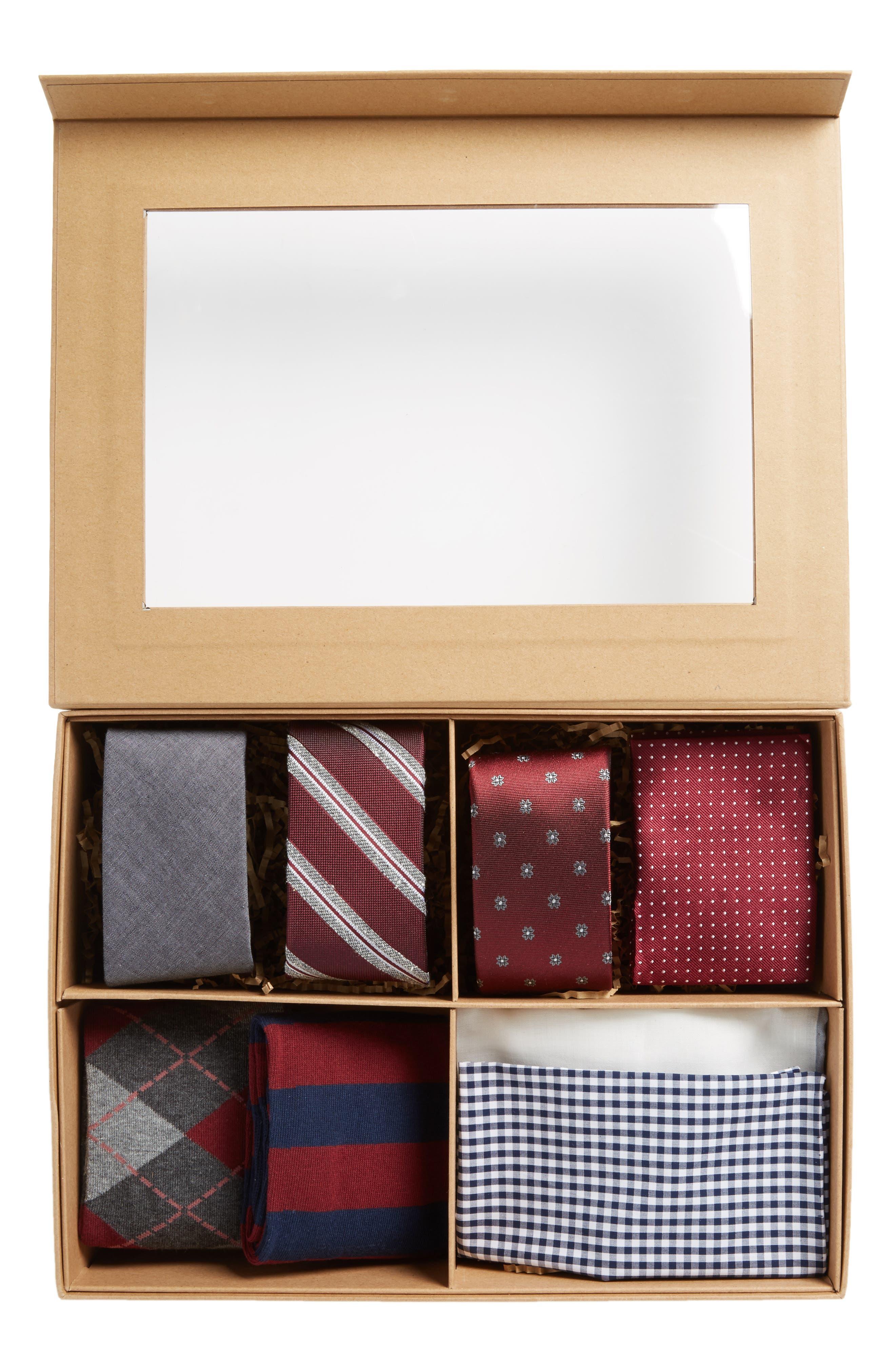 Alternate Image 3  - The Tie Bar Large Burgundy Style Box
