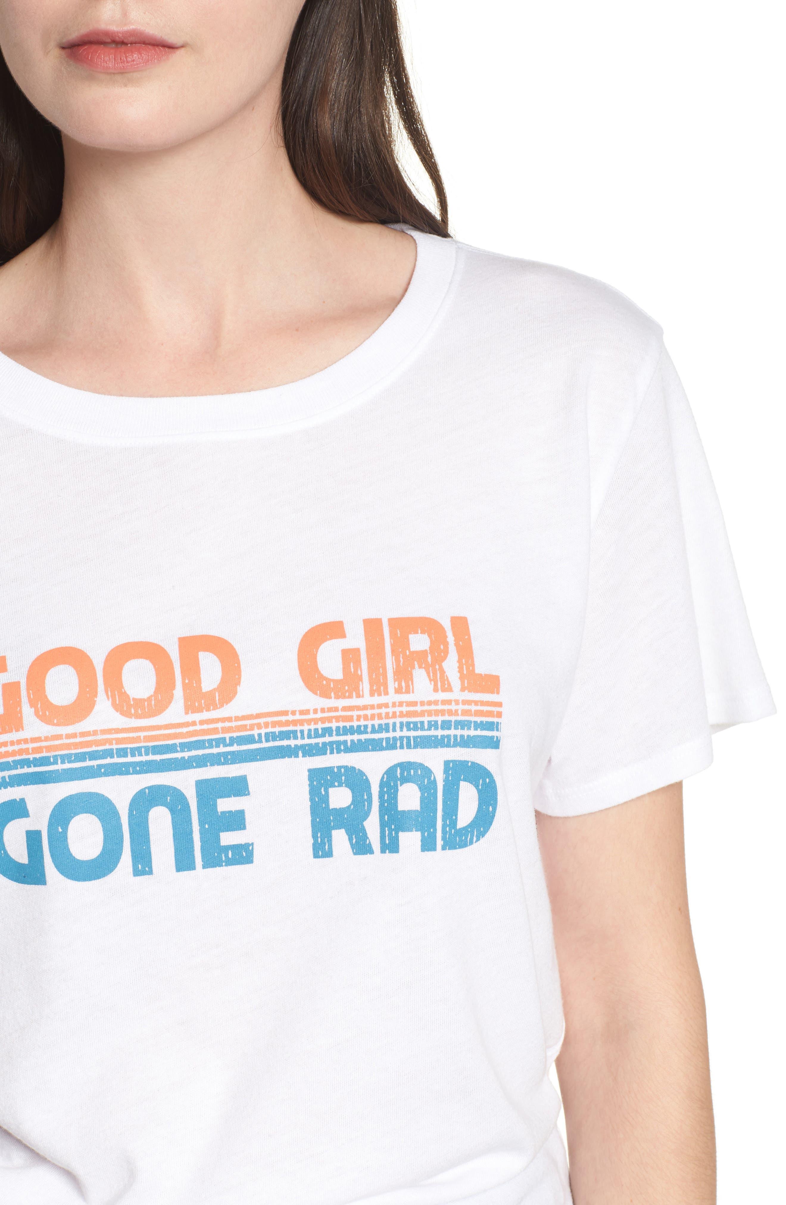 Good Girl Gone Rad Tee,                             Alternate thumbnail 4, color,                             White