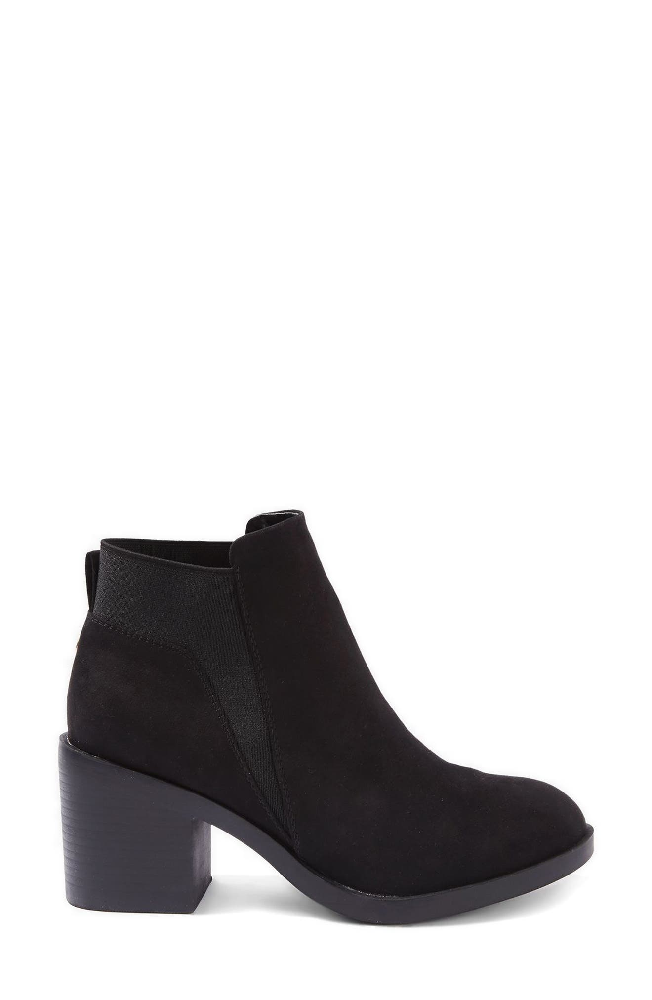 Buddy Block Heel Bootie,                             Alternate thumbnail 2, color,                             Black