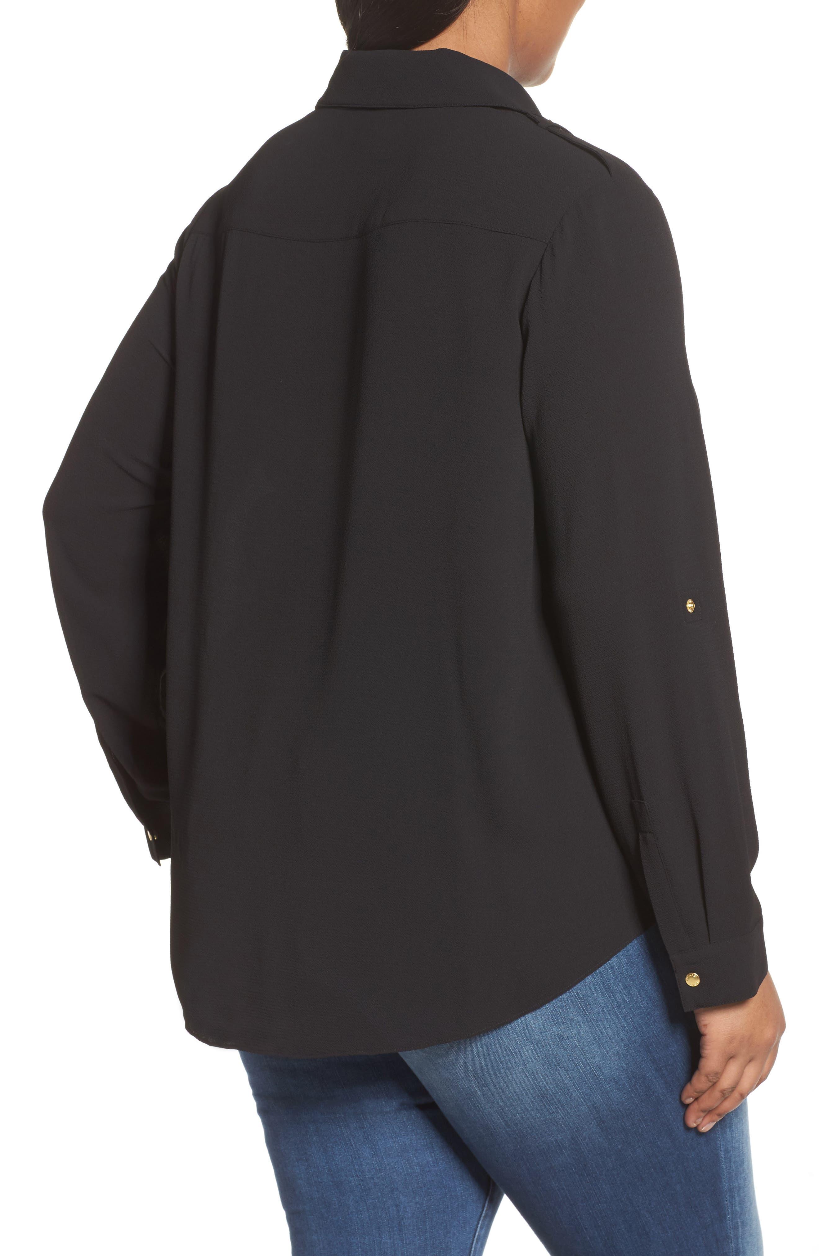 Alternate Image 2  - MICHAEL Michael Kors Draped Safari Top (Plus Size)