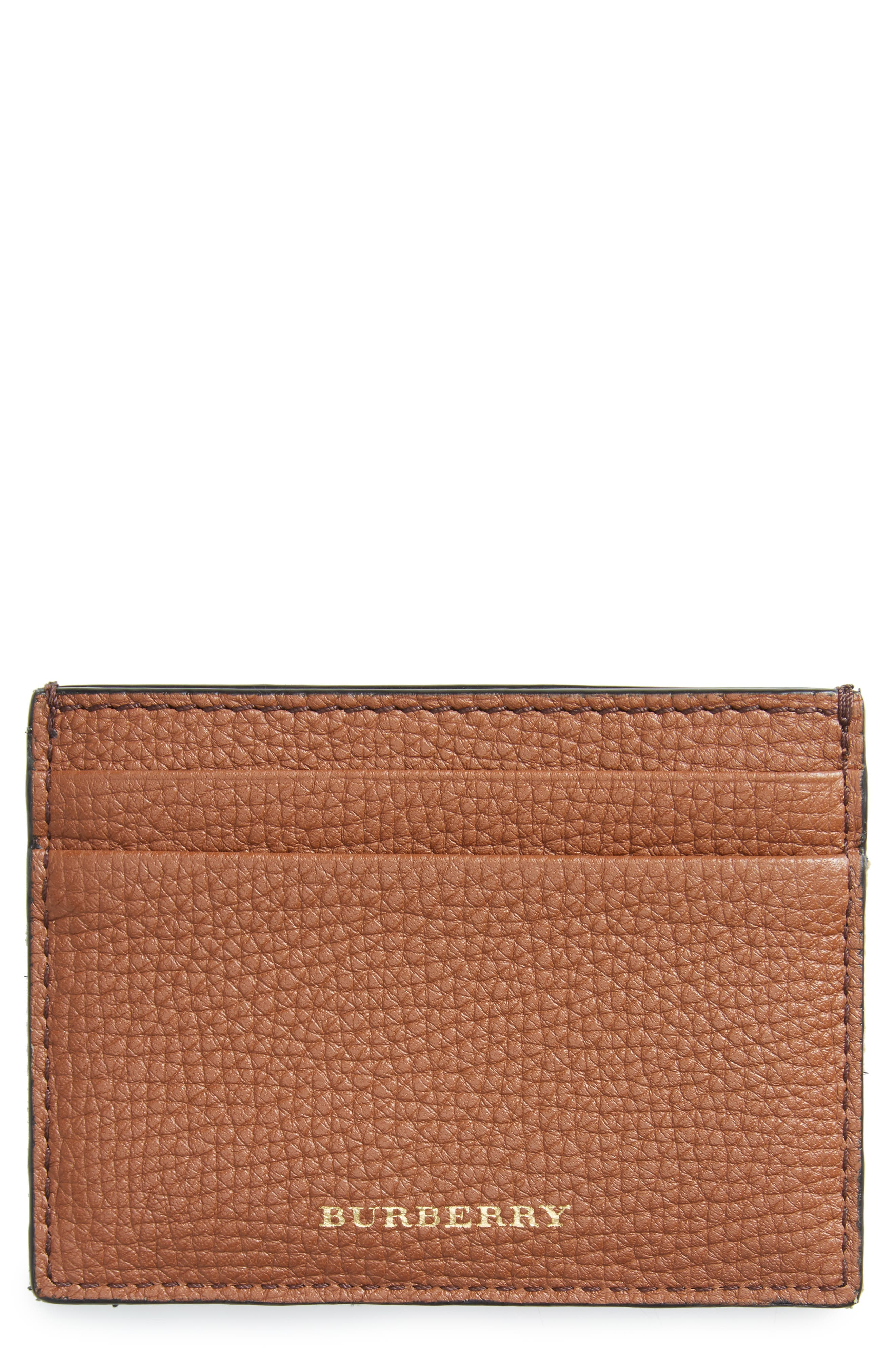 Alternate Image 1 Selected - Burberry Sandon Leather Card Case