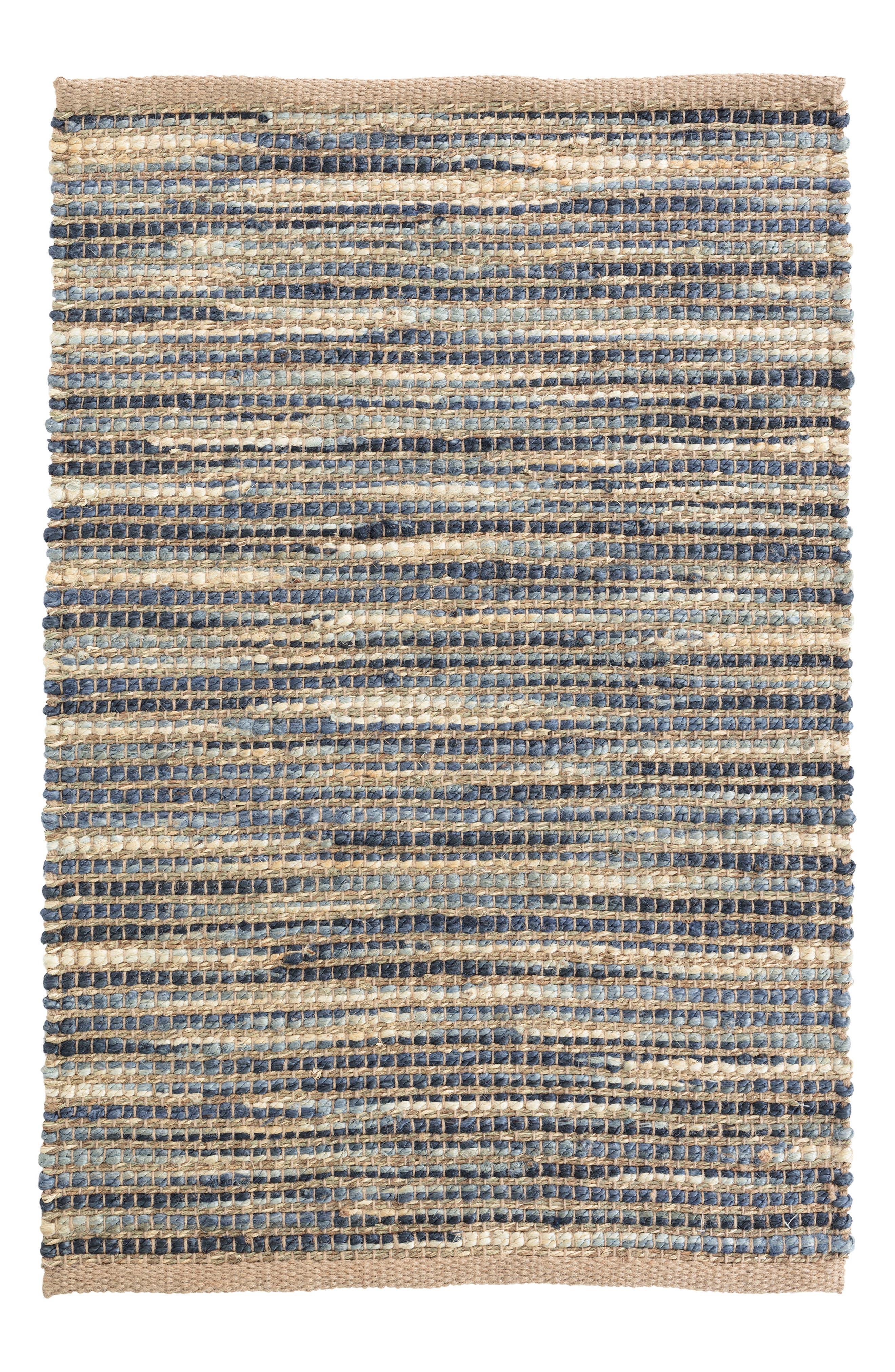 Tenali Woven Rug,                         Main,                         color, Blue