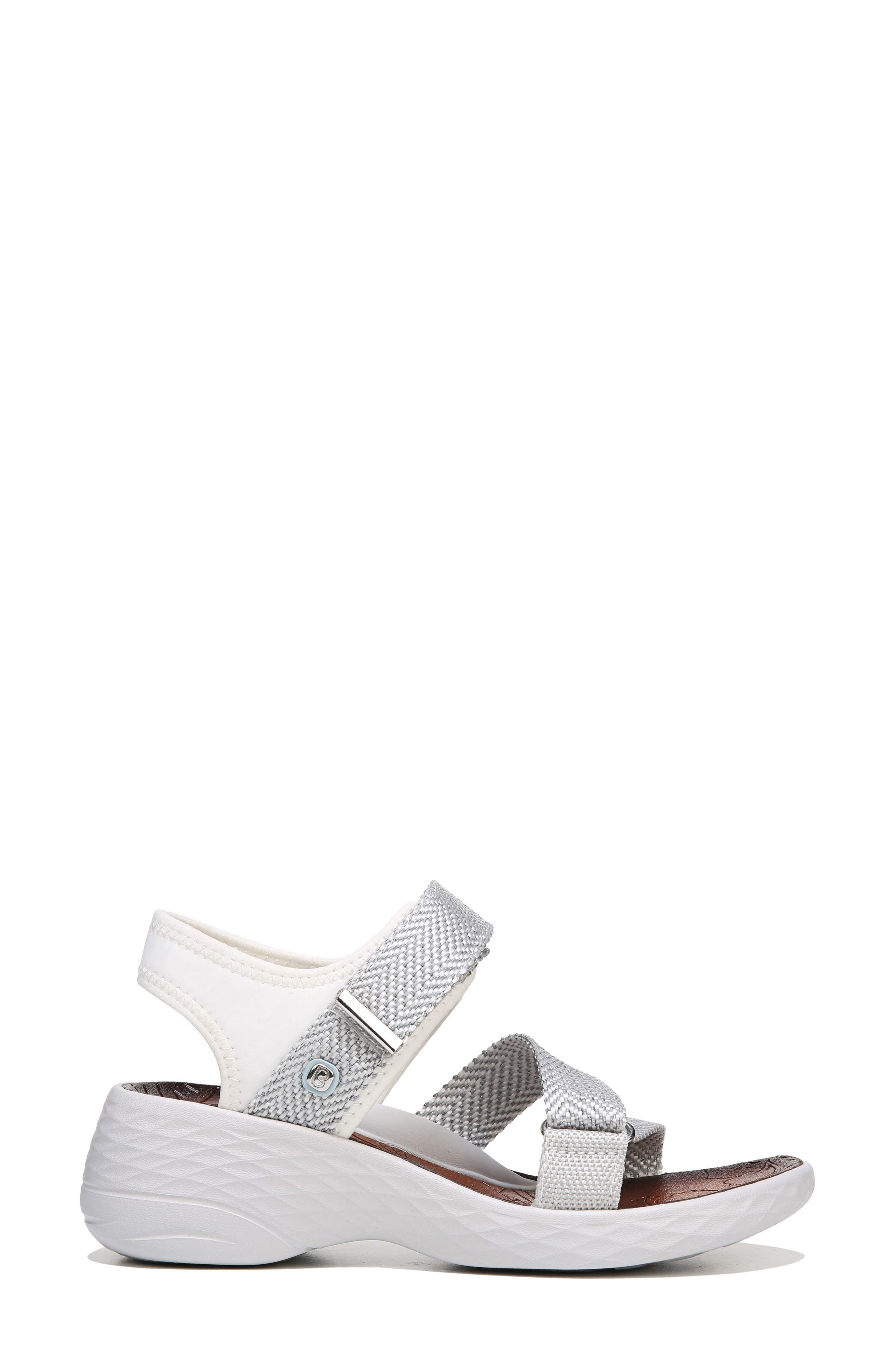 Jive Sandal,                             Alternate thumbnail 4, color,                             White Fabric